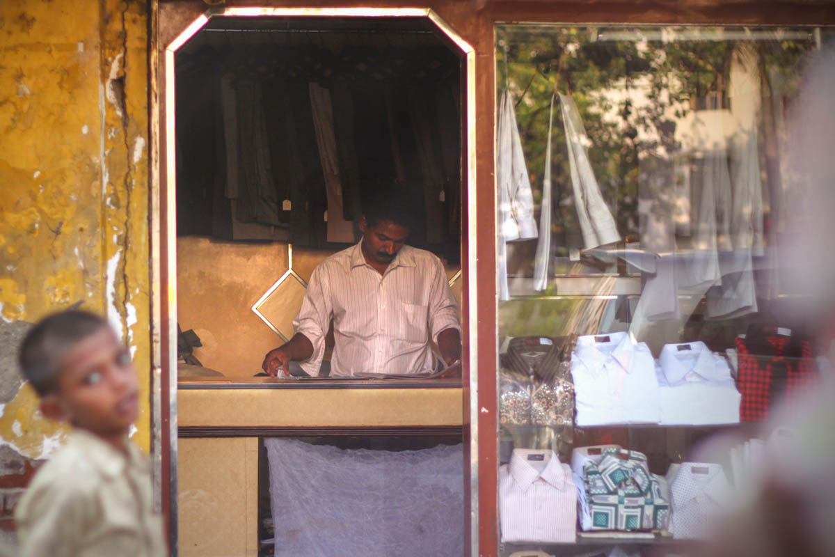 Tailor in Mahim, February 2011