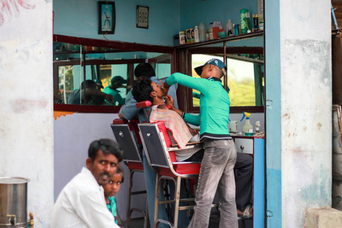 Barber - outskirts of Lonavala, November 2011