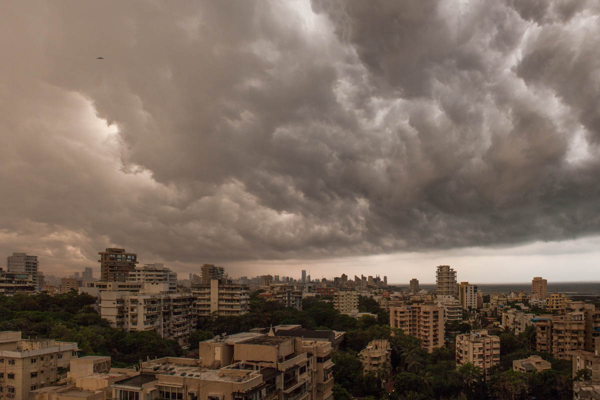 Looking South from a Bandra rooftop, October 2012
