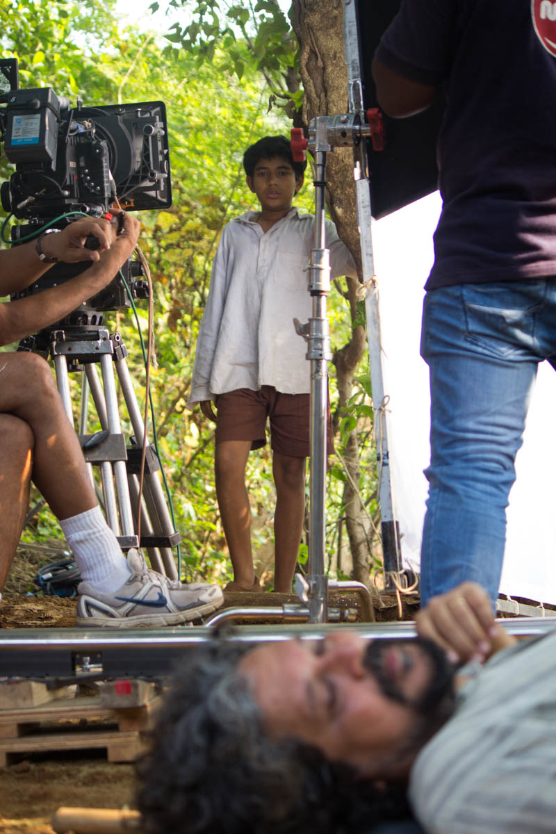 Partrho stares at Amole Gupte stands-in as 'Arjun's' dead father.