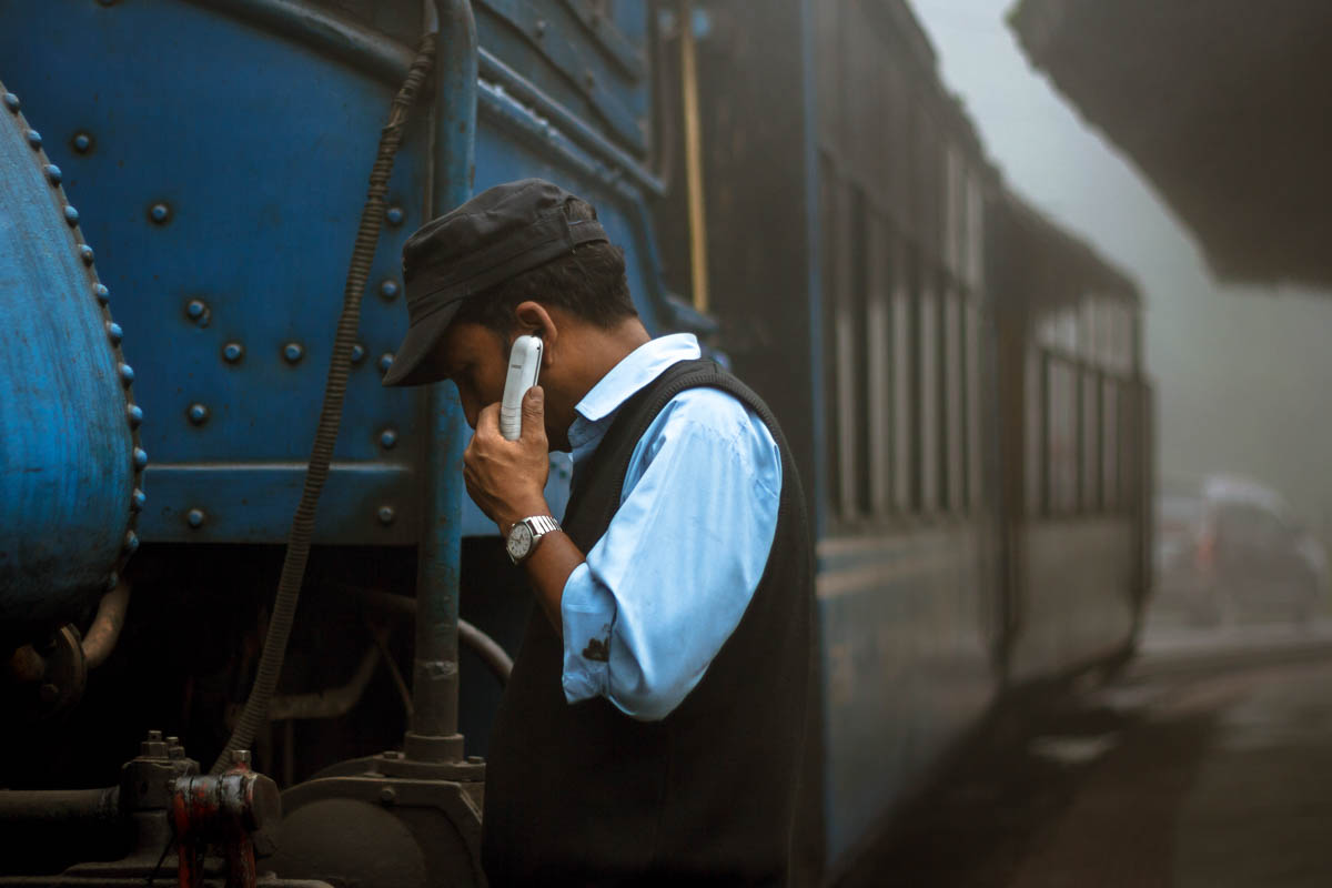 Engine Driver, Ghum Station, August 2014