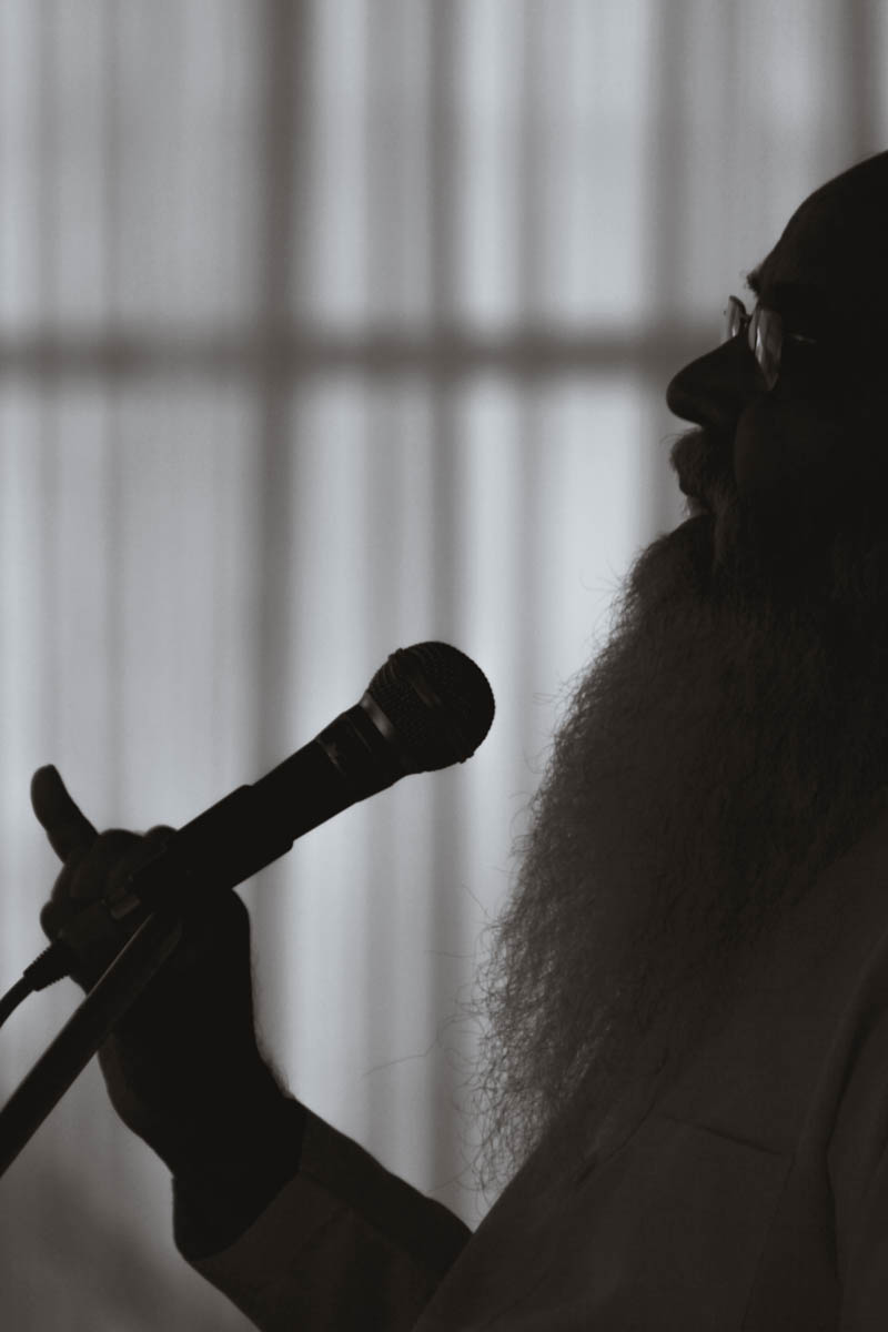 Swami Anubhavanand speaks at an event in Assam, March 2013