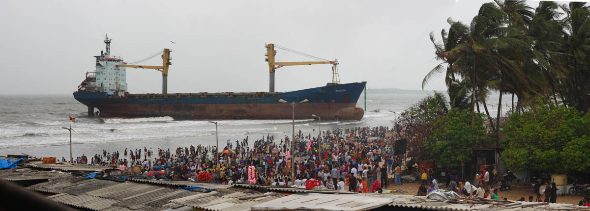 MV Wisdom at Juhu Chowpatty, June 2011