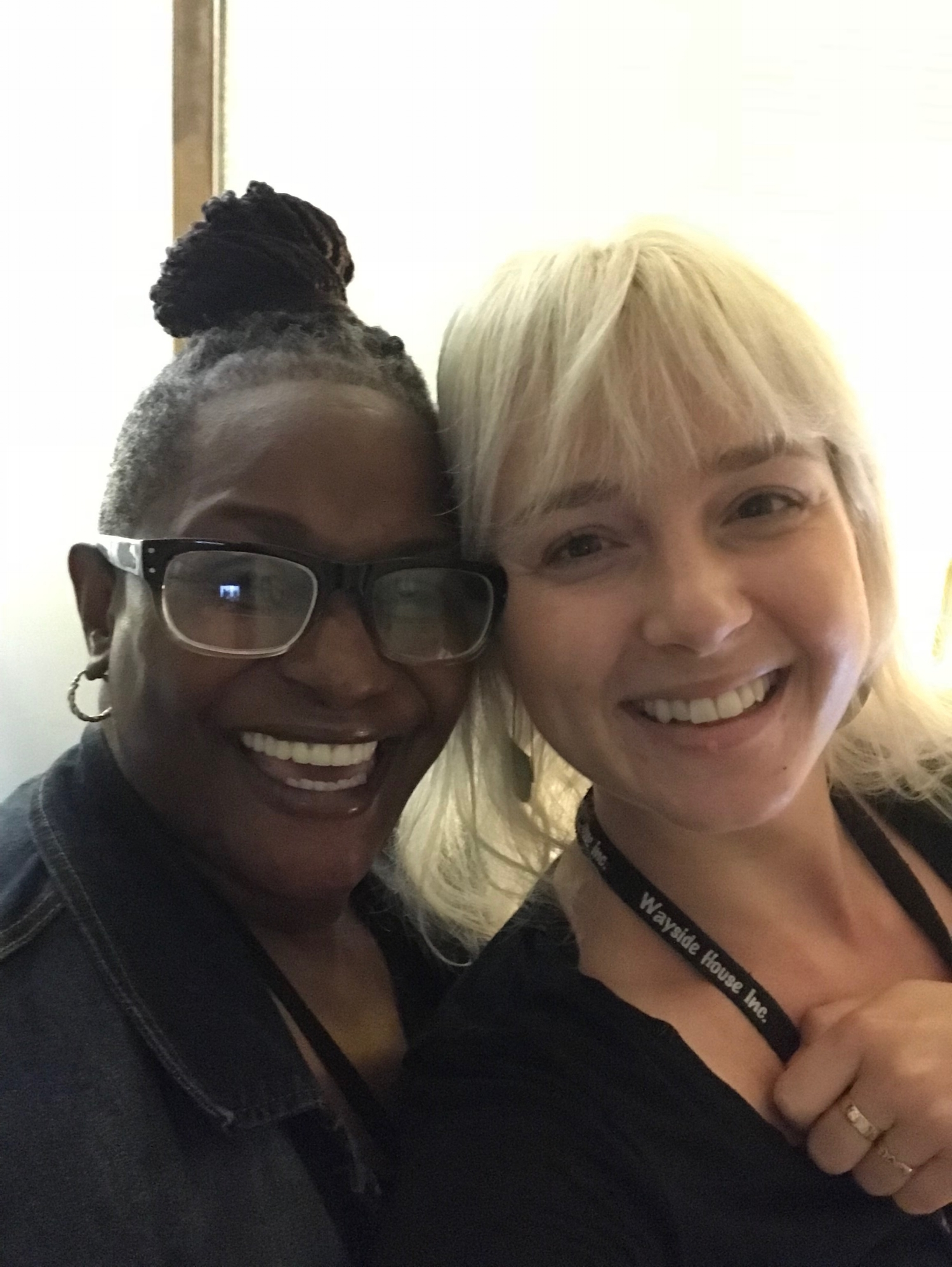 Lucia (pictured on the right) with her co-worker and fellow Peer Recovery Specialist, Jennifer Wright.