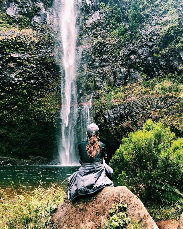 Yesterday: desert. Today: waterfalls. 💦 #madeira #lagoadovento #levada #waterfall