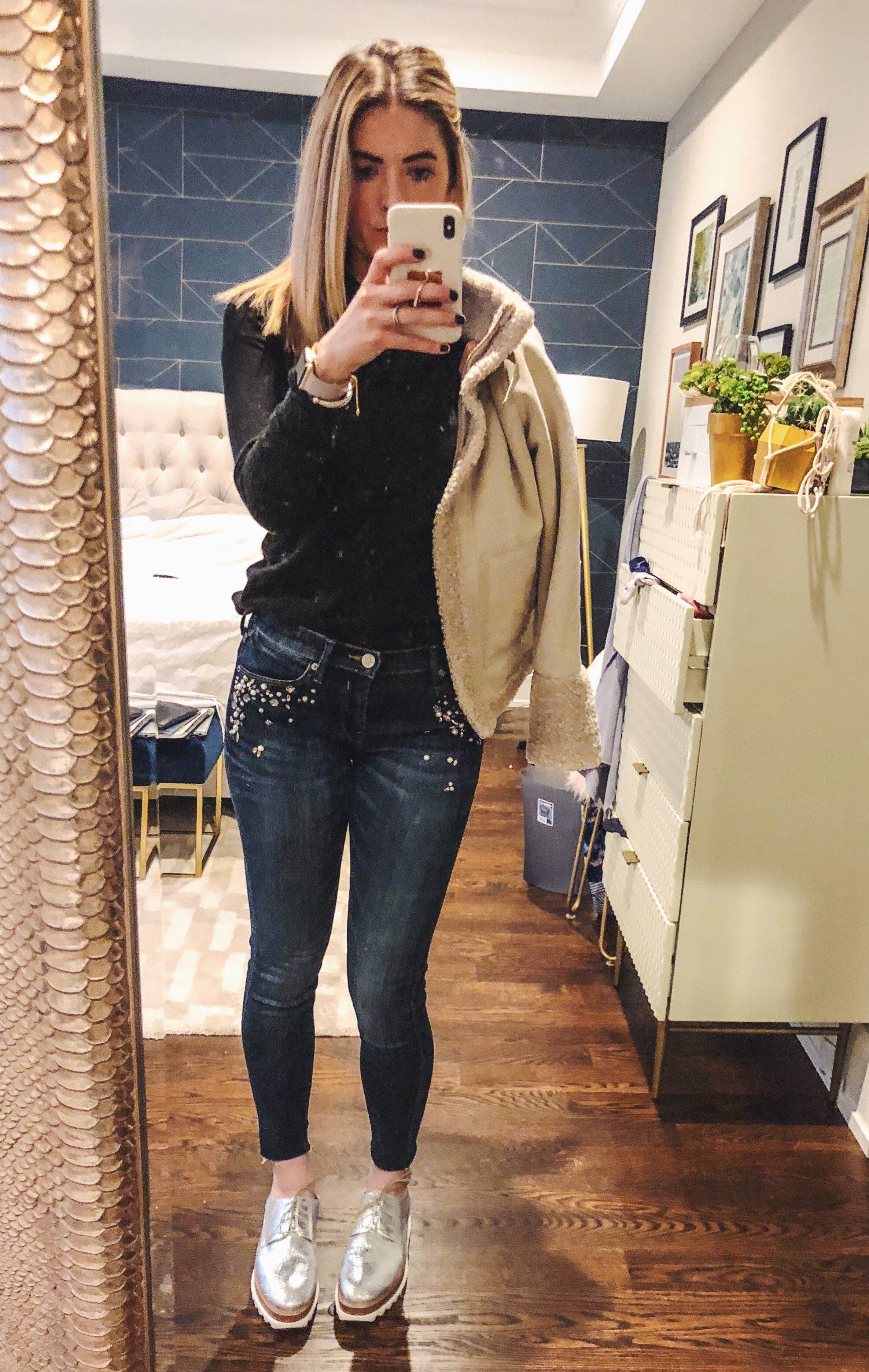 ann taylor  faux shearling coat  - less than $200!