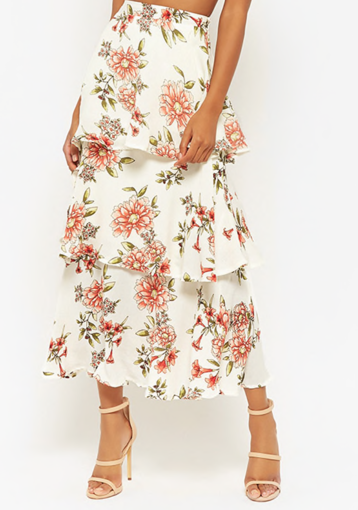 save - Forever 21 Tiered Maxi Skir
