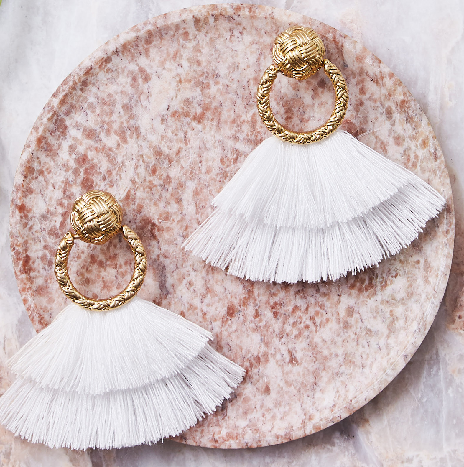 For Love & Lemons Fringe Loop Earrings