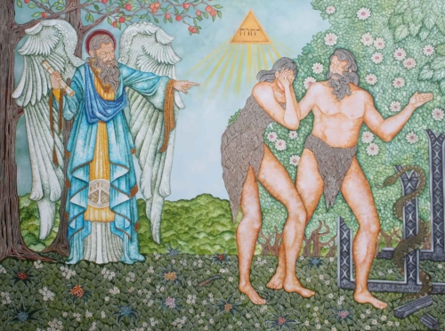 Adam and Eve expelled from the  garden of Eden.jpg