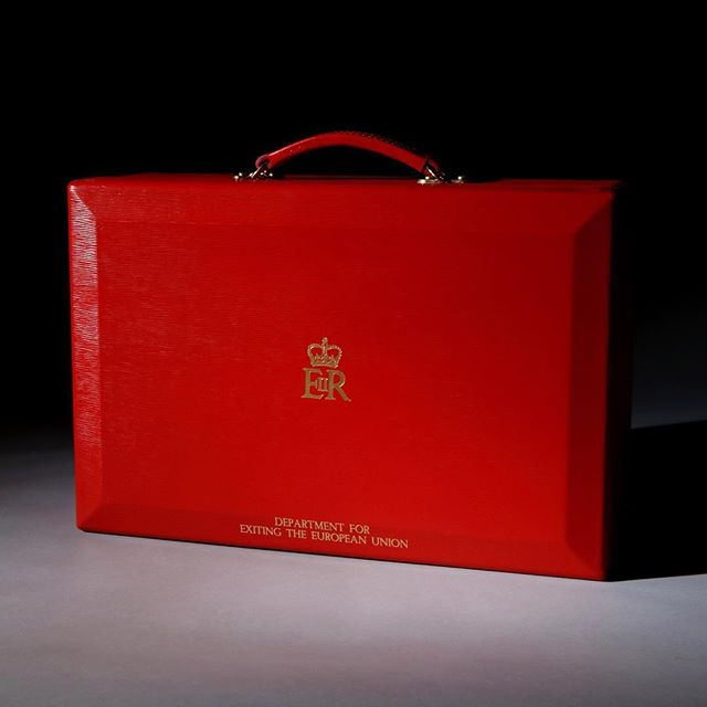 A red despatch box for the Department for exiting the European Union #despatchbox #brexit