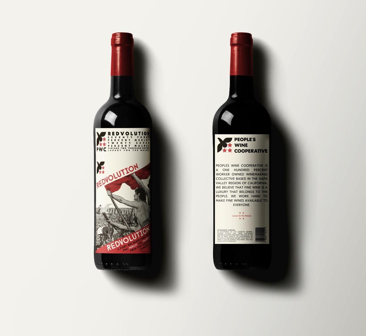 Redvolution Label Design