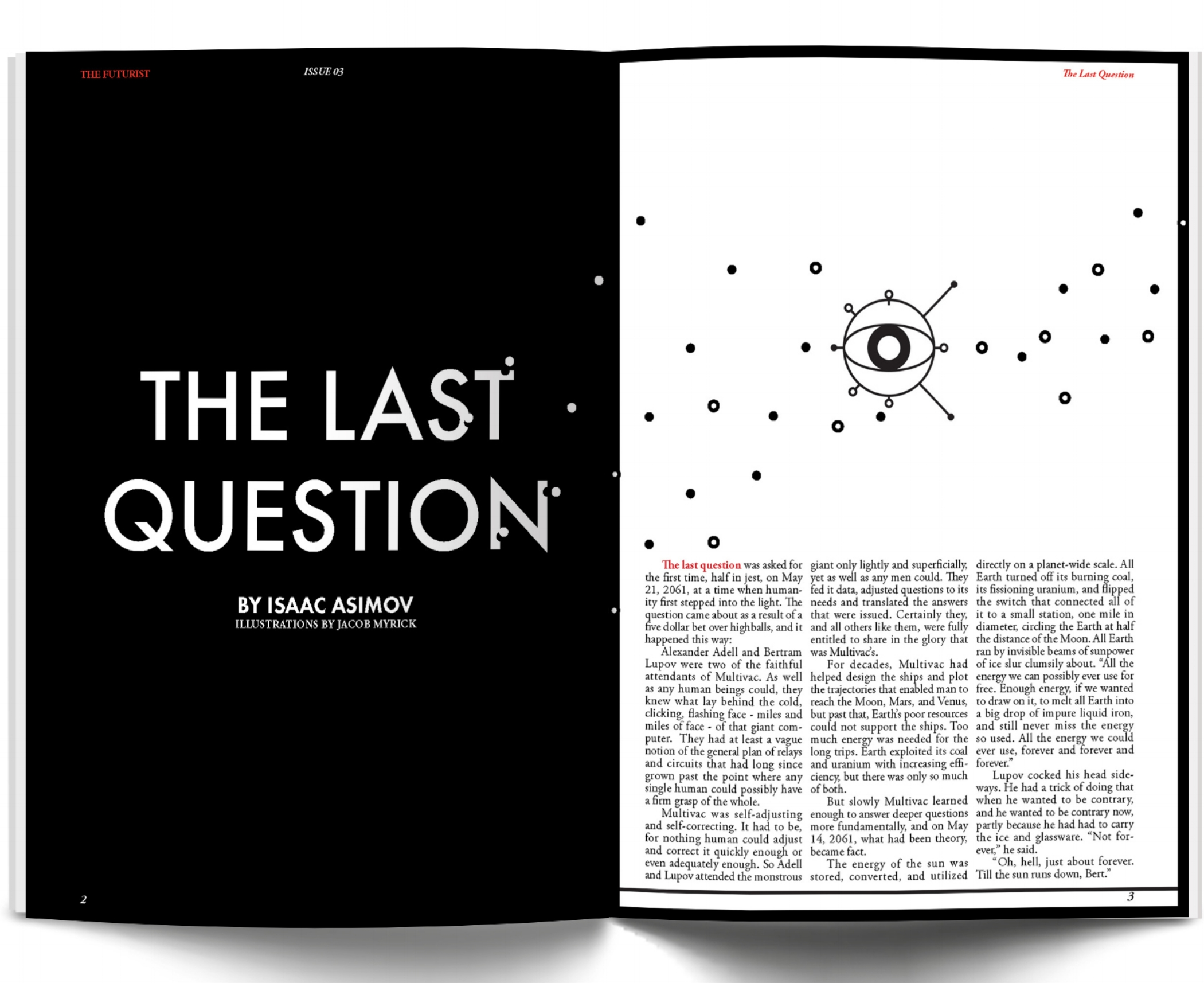 The Last Question - Editorial Design, Vector Graphics, Typography