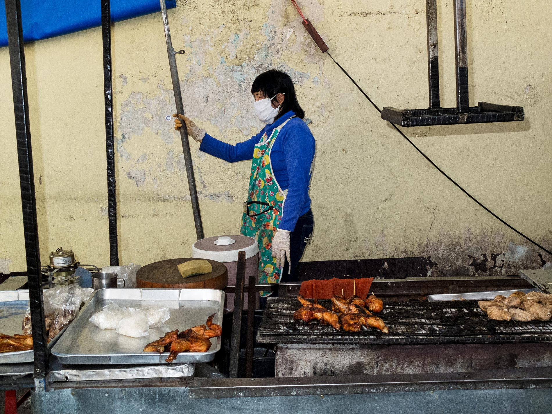 Grilled chicken stall - Chiang Mai