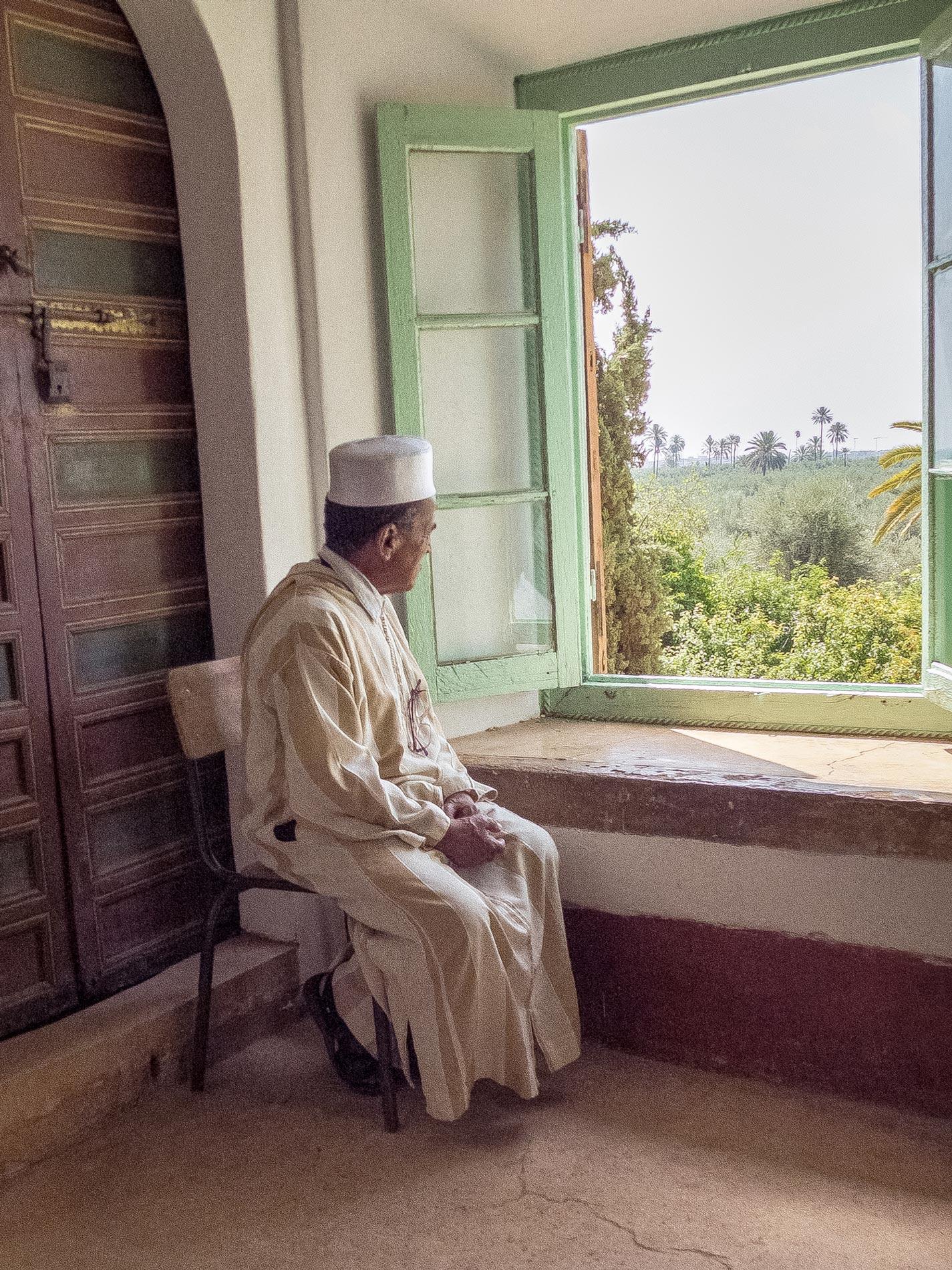 Pavillion attendant - Menara Garden, Marrakech