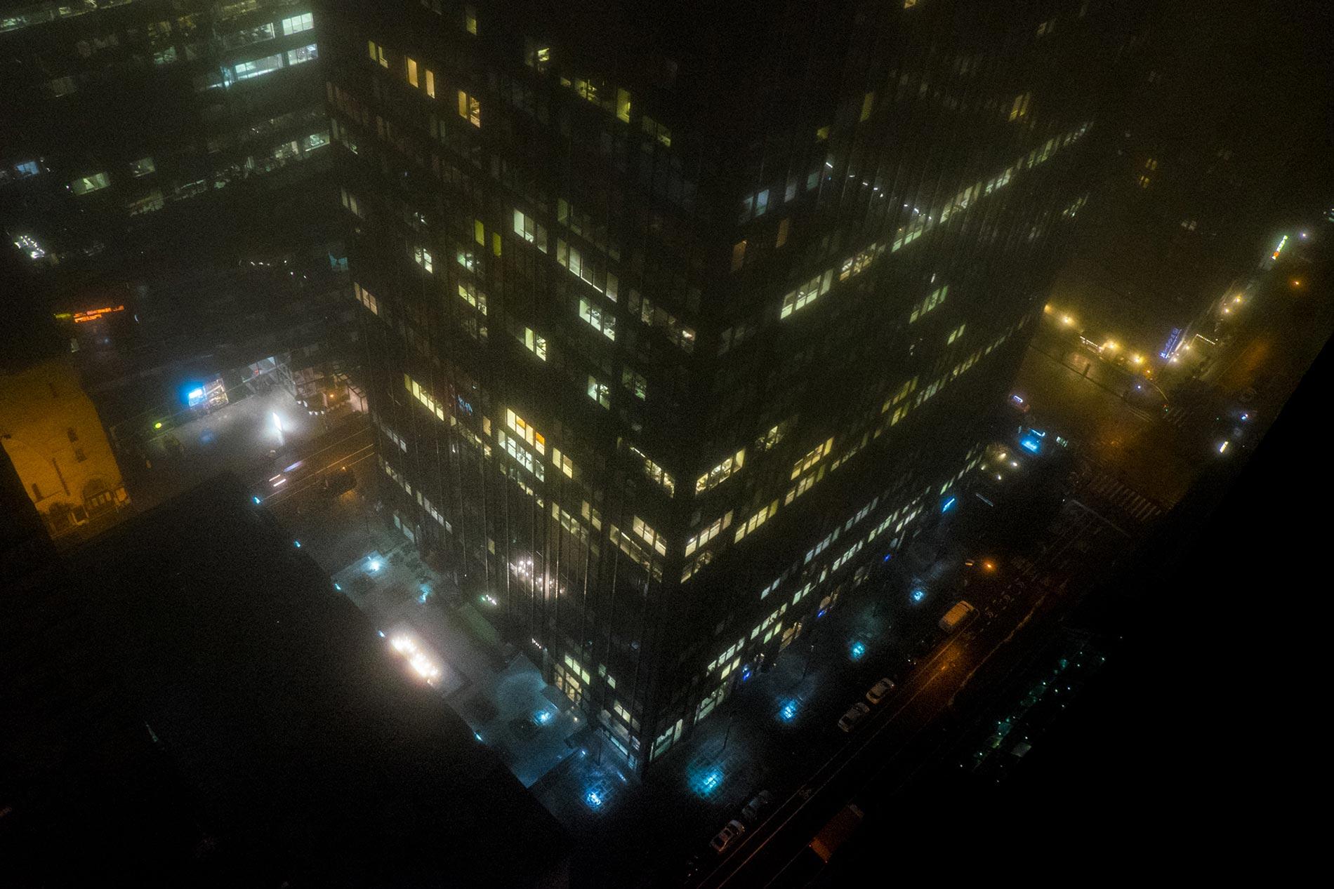 Foggy skyscraper - New York