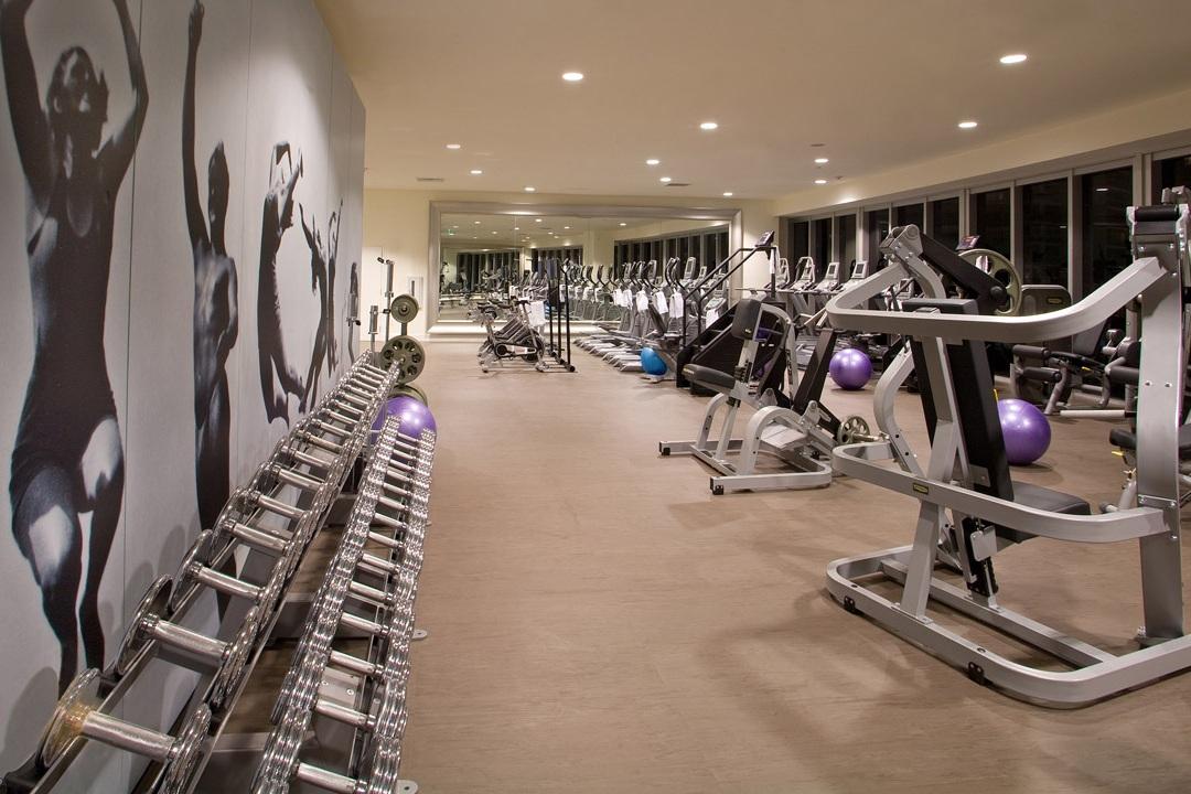 Gym - #fitness #gym #aerobicroom #spa&sauna #towelservice #virtualfitness #complimentaryclasses #TRX #rockclimbingwall