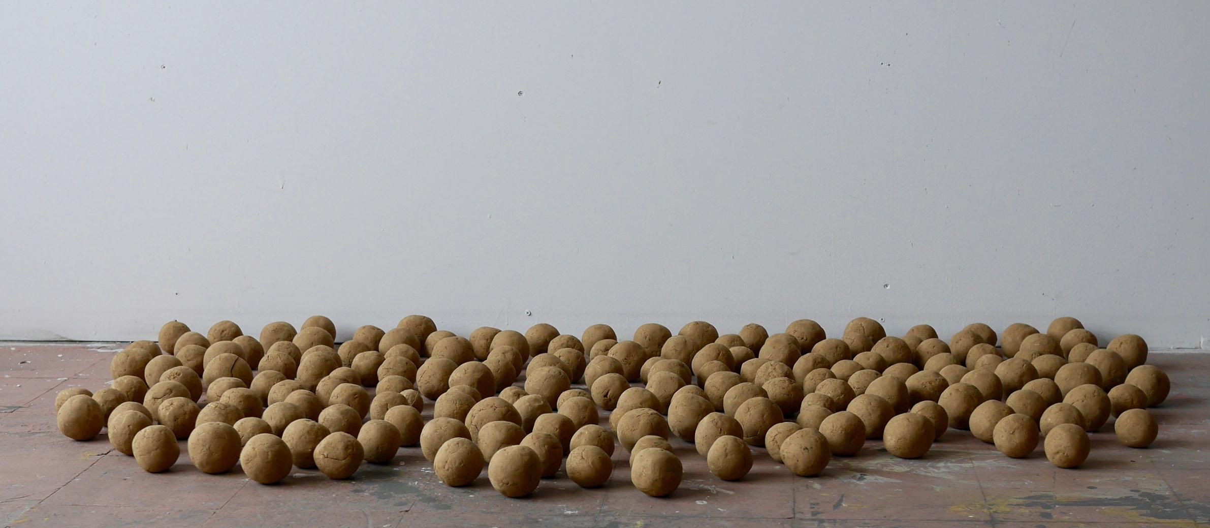 Self-portrait, 171 Dirt Balls - detail 2