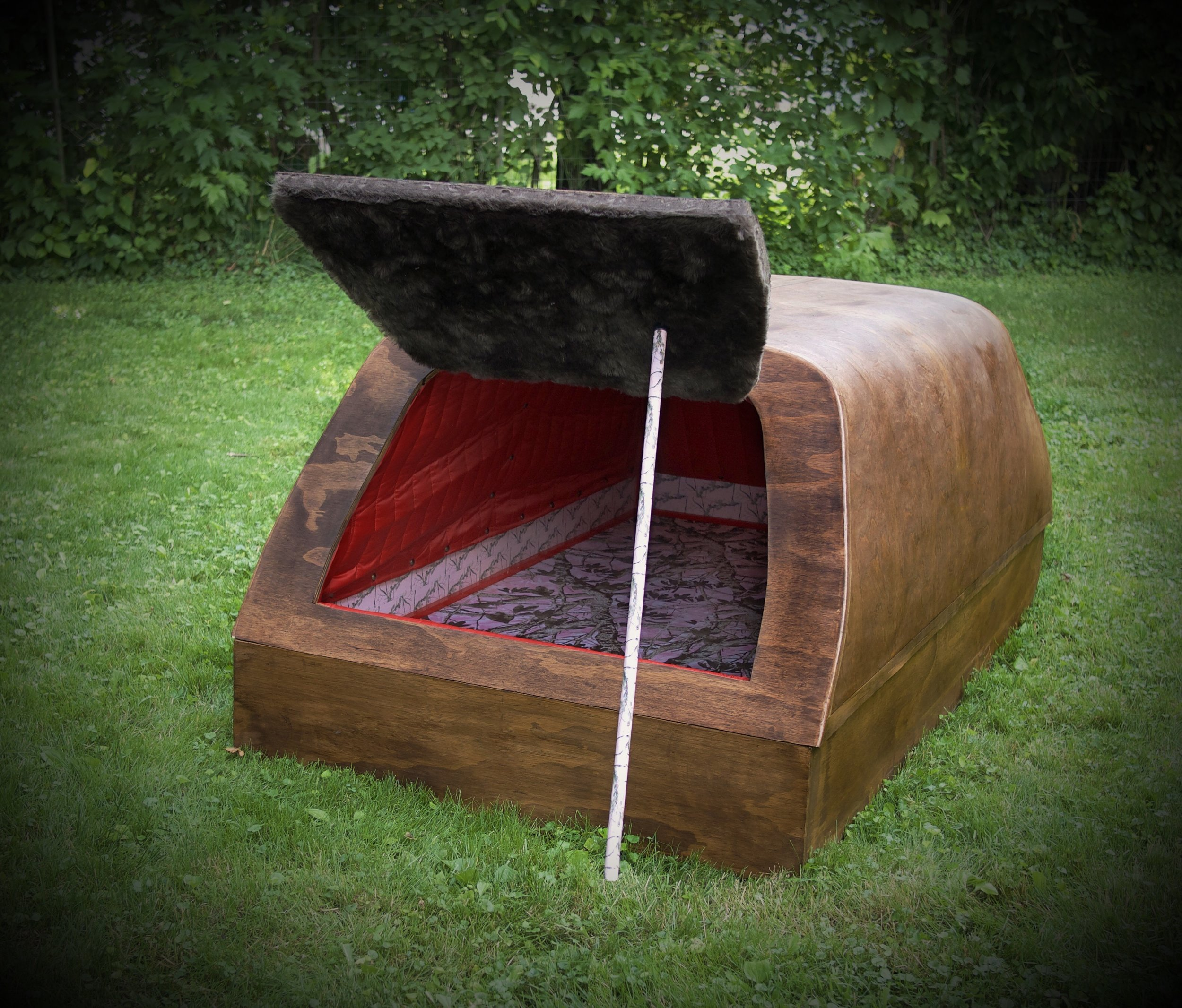 """Survival Ark for the Volvo XC90   32"""" x 42"""" x 76""""  Wood, upholstery, survival gear for a family of three  (2018)"""