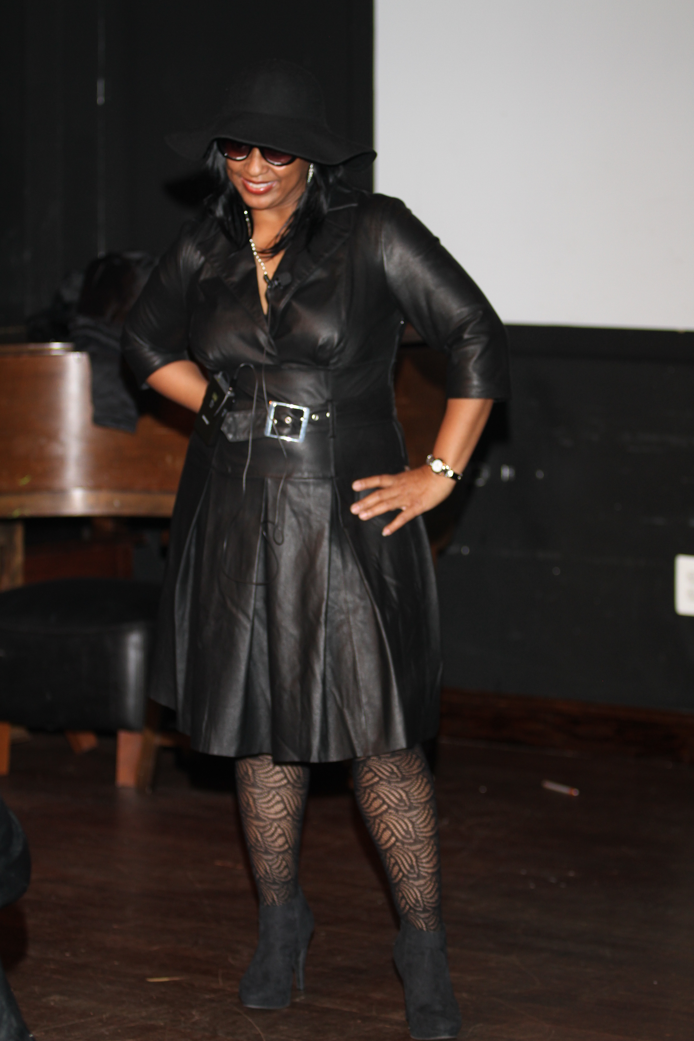 """Missy Thang  - Missy Thang is a character and persona that was birthed out of Christine Turner Jackson's desire to create a humorous character who can deliver clean comedy to audiences of all ages in diverse venues. As a former PG County science classroom teacher and 5th/6th grade children's ministry leader, comedy has always been a critical component of her delivery. The debut of Missy Thang occurred in 2015 as a """"stand-in"""" host for a comedy show at Busboys and Poets featuring her other close friend comedy character, Sistah Soldjah. Since that time, Missy Thang has been well received as a character who is unapologetically confident in her skin as a woman of many talents. Most notable are her self-proclaimed flare for fashion and musical talents. Missy Thang is quick to remind her audiences that she """"doesn't miss a thang!""""She has served as the MC for fashion shows and made special appearances at events such as birthday and anniversary celebrations, as well as engaging with women and youth through book clubs, women's conferences, at womens' shelters and church fundraisers.The woman behind Missy Thang (and Sistah Soldjah), is Christine Turner Jackson. She is the author of Pitch Black, a fictional story based on her father, Benjamin Turner, a talented high school baseball pitcher in Washington, DC in the 1950's. She envisions creating a new brand of clean female comedy as she increases exposure for both Missy Thang and Sistah Soldjah as renowned national and international comedians."""
