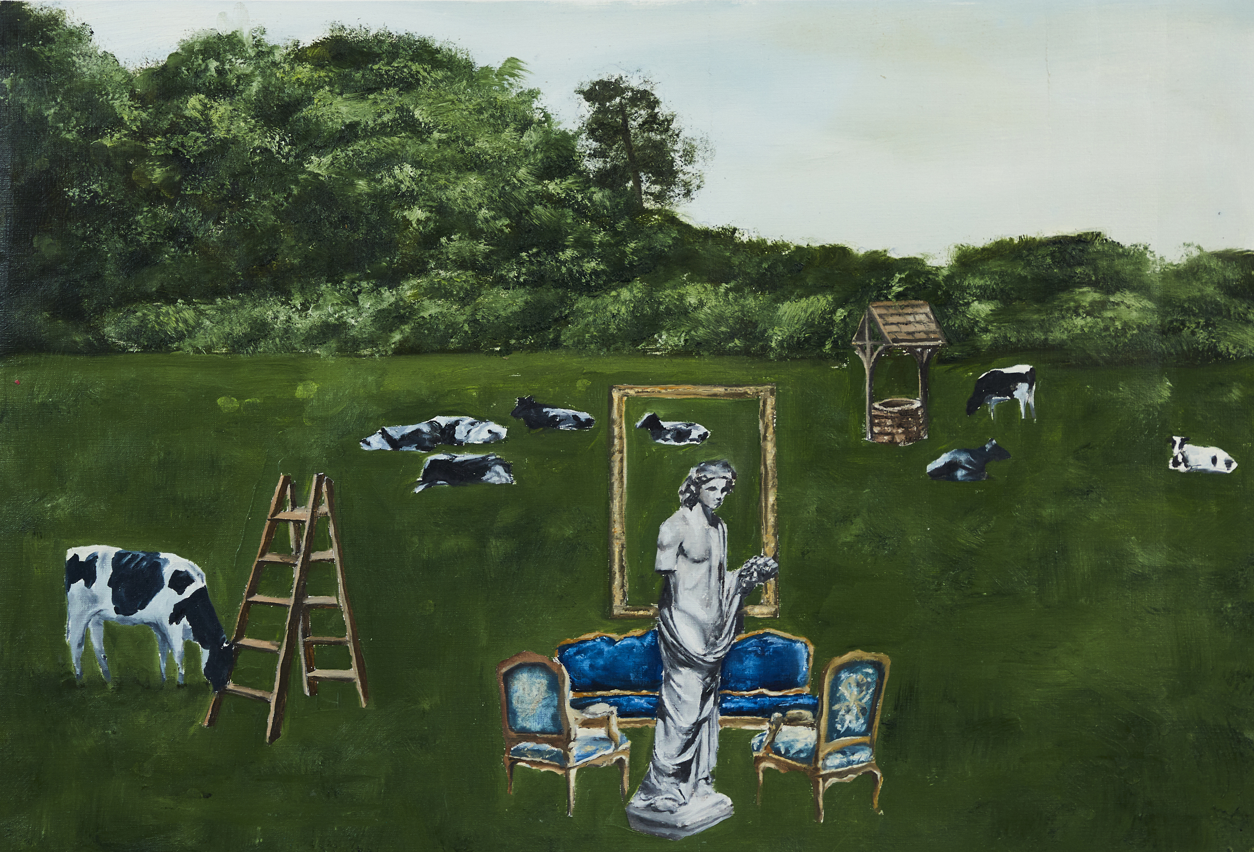 Conceptually I am Not Here      oil on canvas