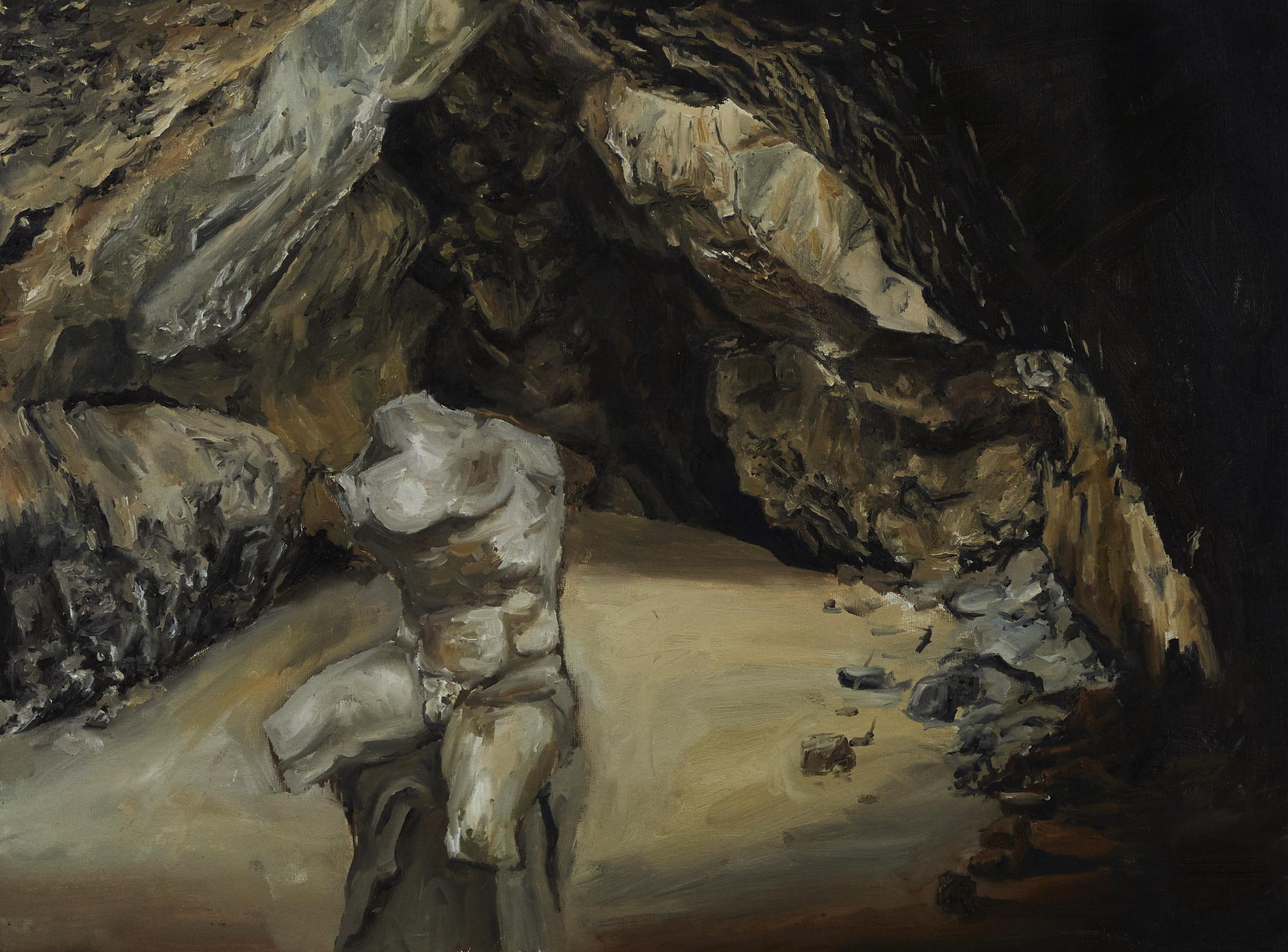 Internally, I am a cave      oil on canvas