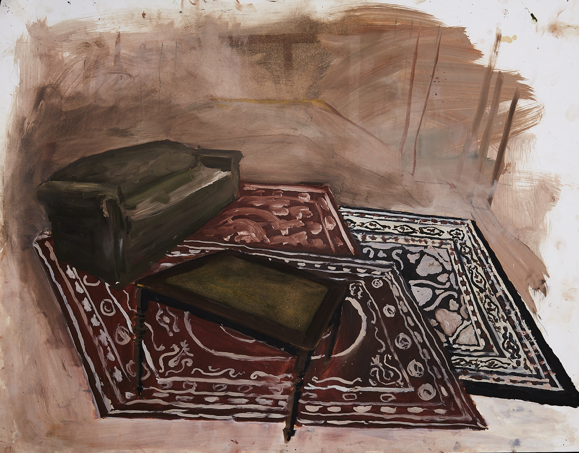 The Furniture in my Room    oil on paper