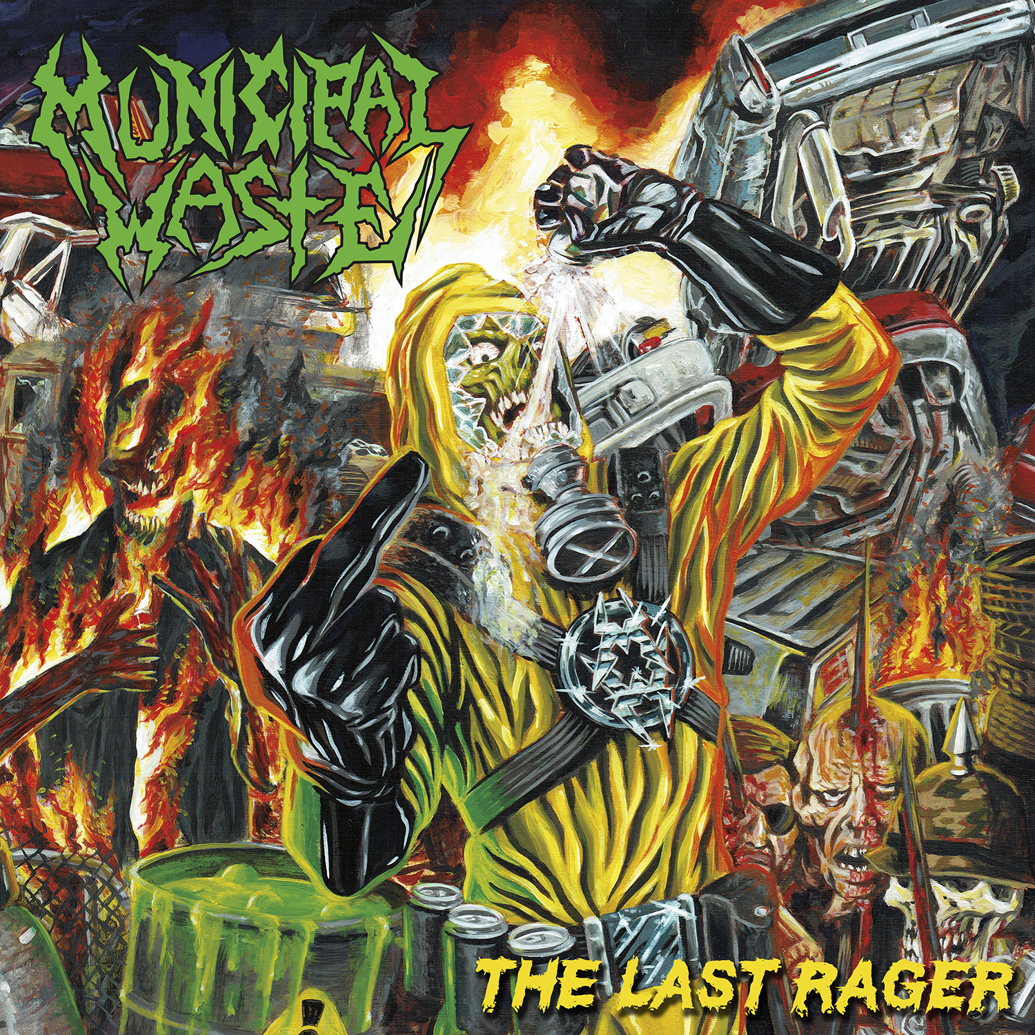 The Last Rager EP was recorded by LandPhil Hall at Blaze of Torment Studios in Richmond, VA with additional engineering completed by Josh Hall. The EP was mixed by Rob Caldwell while mastering was handled by Joel Grind. The artwork was created by Brian Crabaugh.