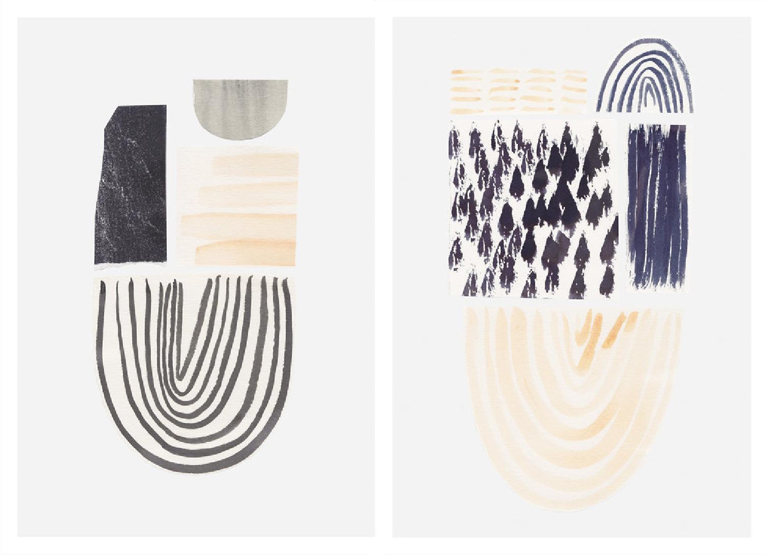 'Flint' & 'Nacre' by    Hannah Clare