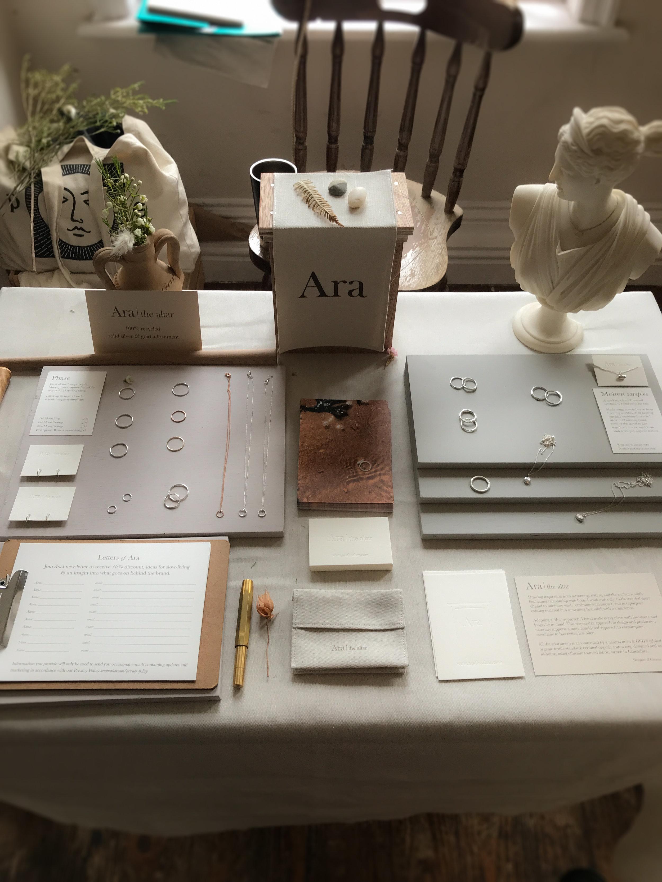 Ara the altar - a lammas gathering - set up