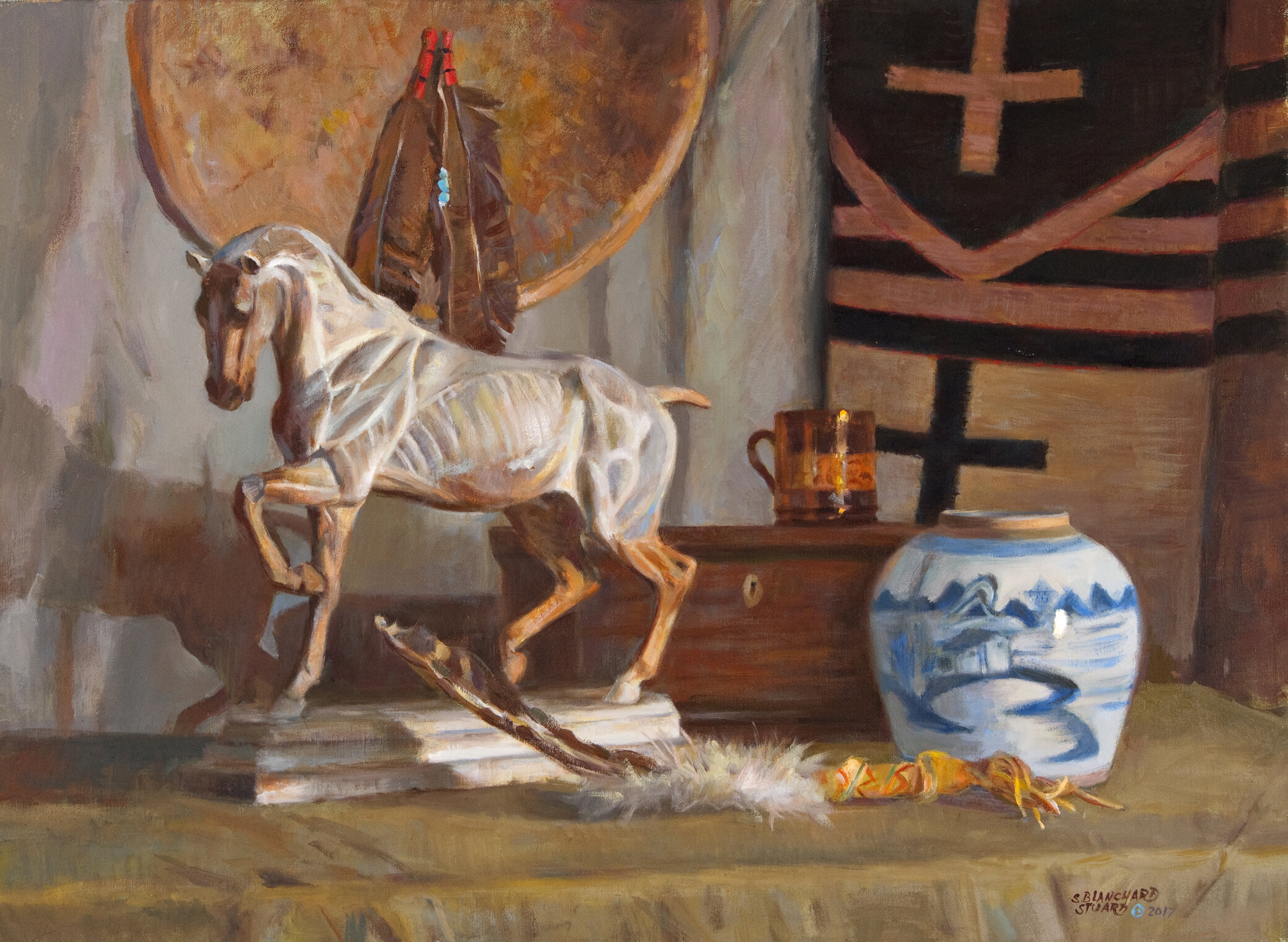 Anatomical Horse, 22 x 30, oil on linen