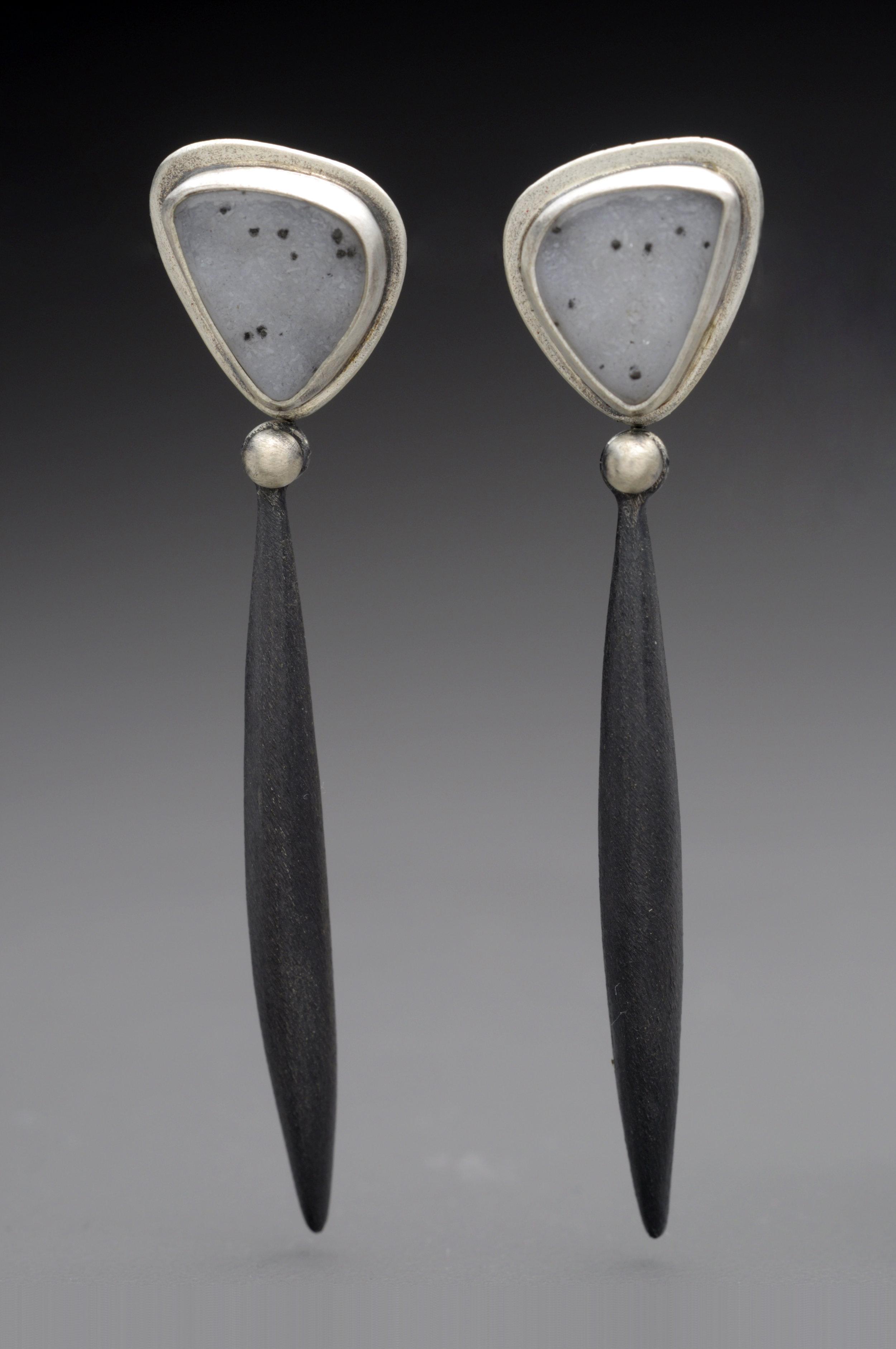 Drusy Black Pod Earrings.jpg