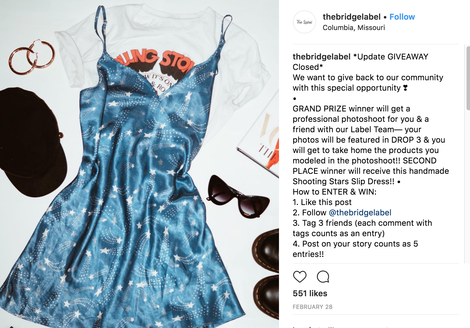 INSTAGRAM - CASE STUDY: COMMUNITY GIVEAWAYCLIENT: THE LABELOBJECTIVE: CREATE USER GENERATED HYPE AROUND THEIR NEXT PRODUCT RELEASE BY OFFERING A FREE OUTFIT AND PHOTOSHOOT WITH THE LABEL CREATIVE TEAM.