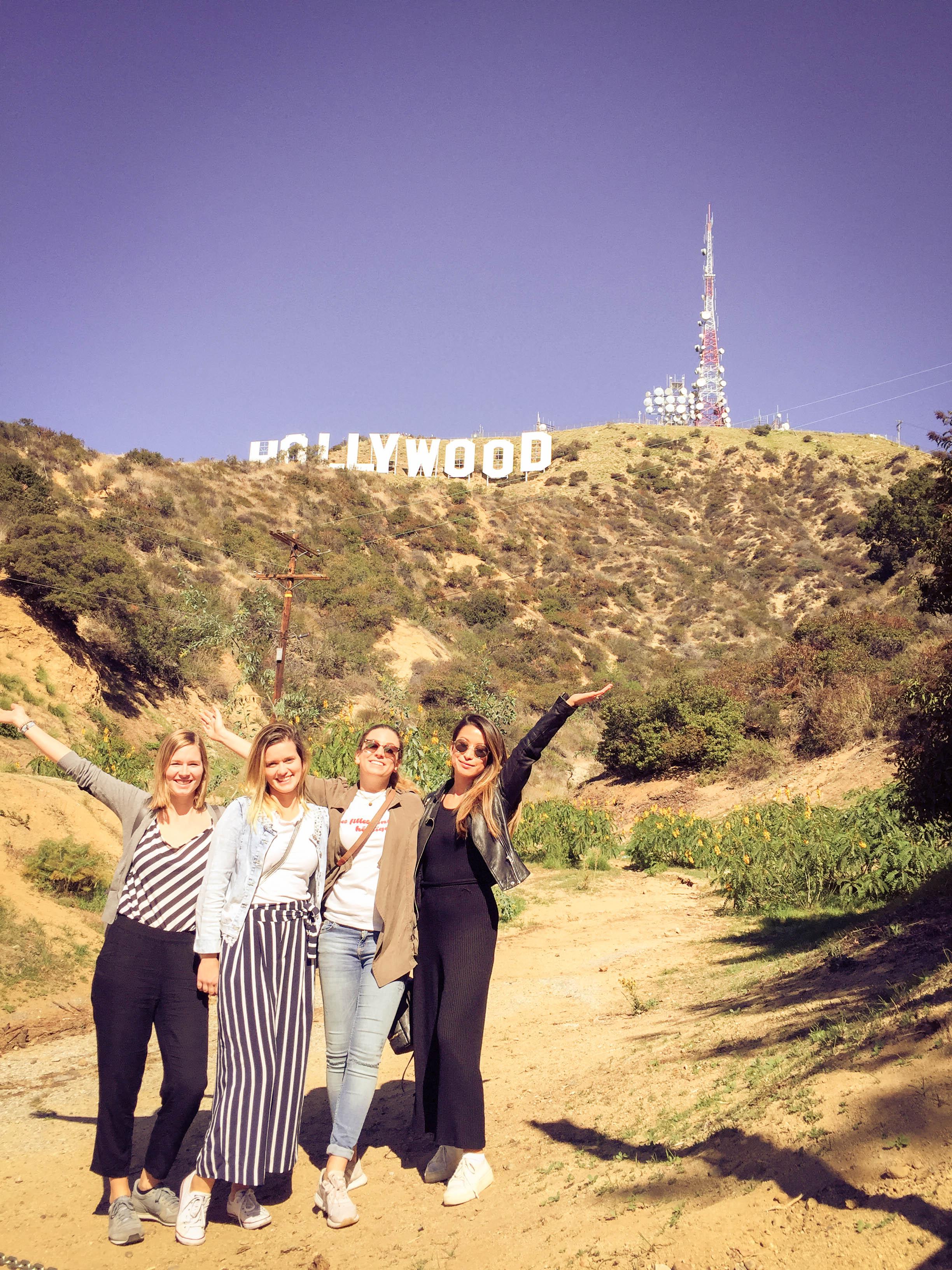 Group shot at the Hollywood sign.