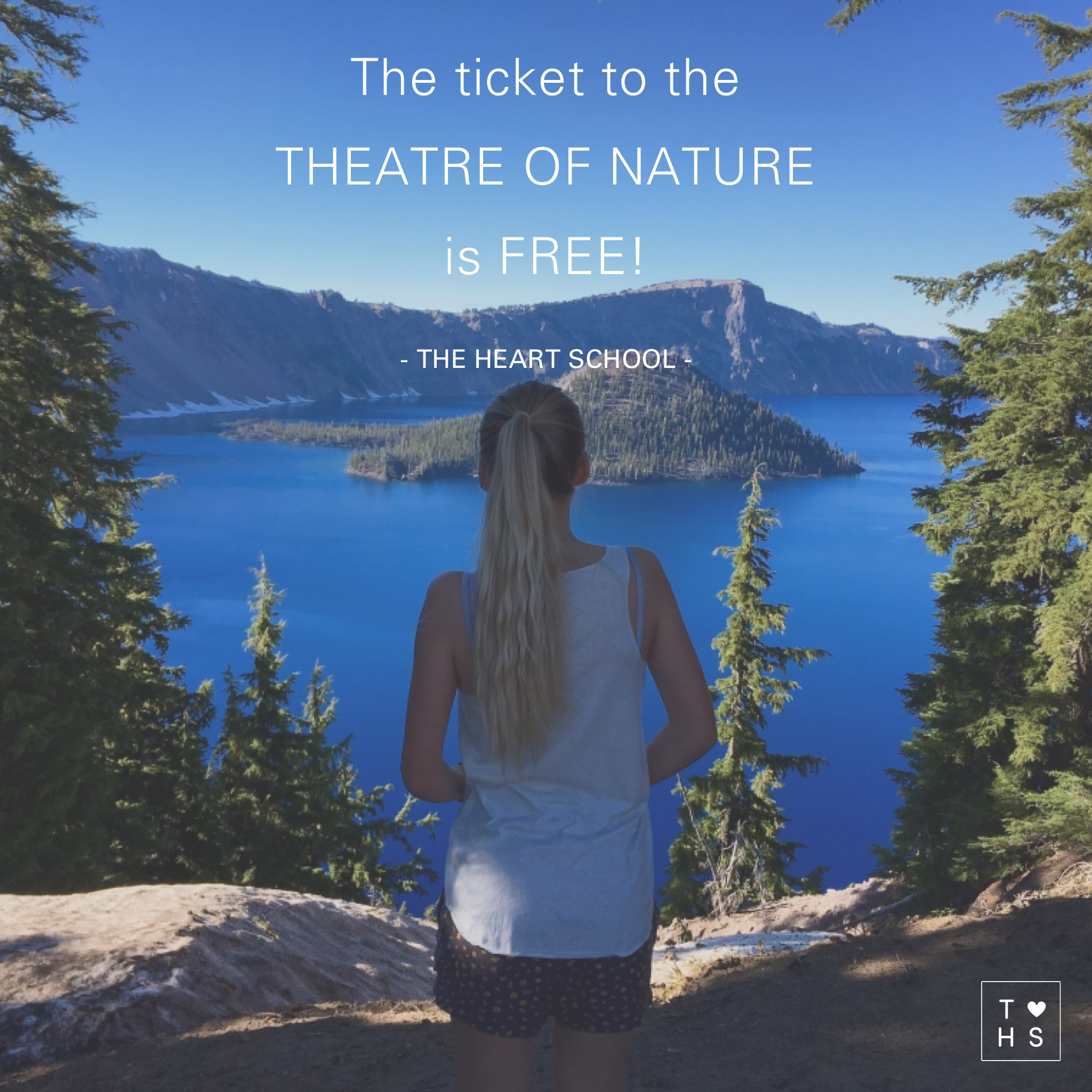 Treat yourself to the theatre of Nature. It is on the wide screen and has a new programme on every day.