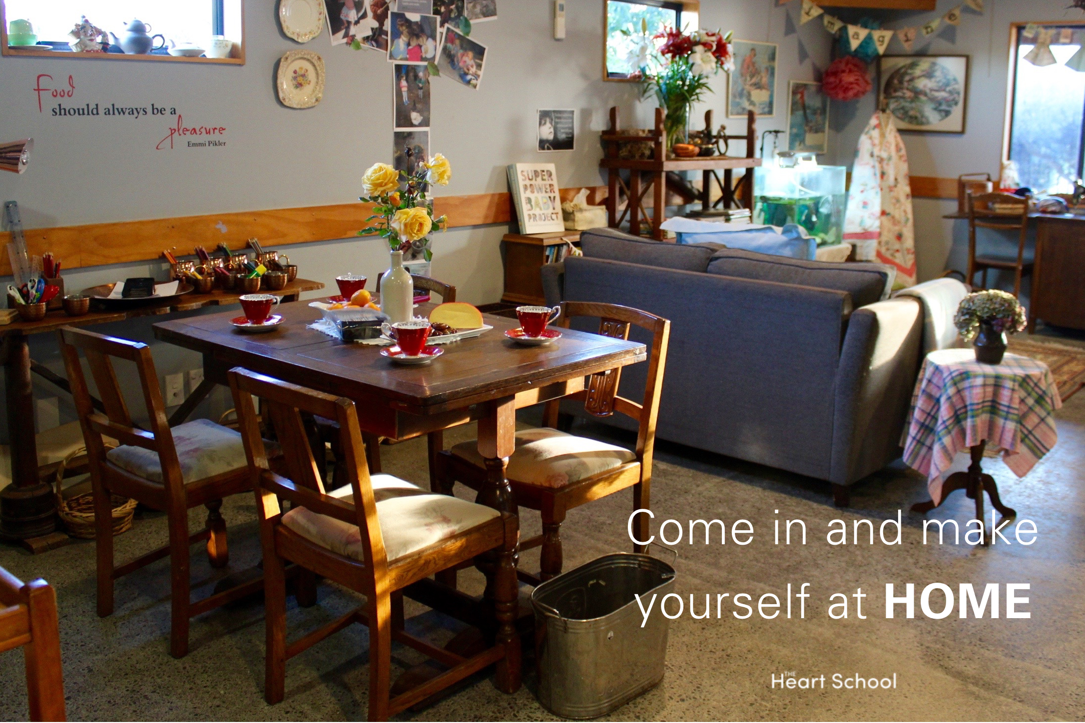"""We know that an environment speaks volumes. If we were to put into words exactly what we want the children to hear it would be, """"you are so welcome here, this is your place, it belongs to you. We know you can find true happiness here and we know that you'll thrive. Come in and make yourself at home""""!It is our role as teachers to provide a place where children feel totally 'at home'."""