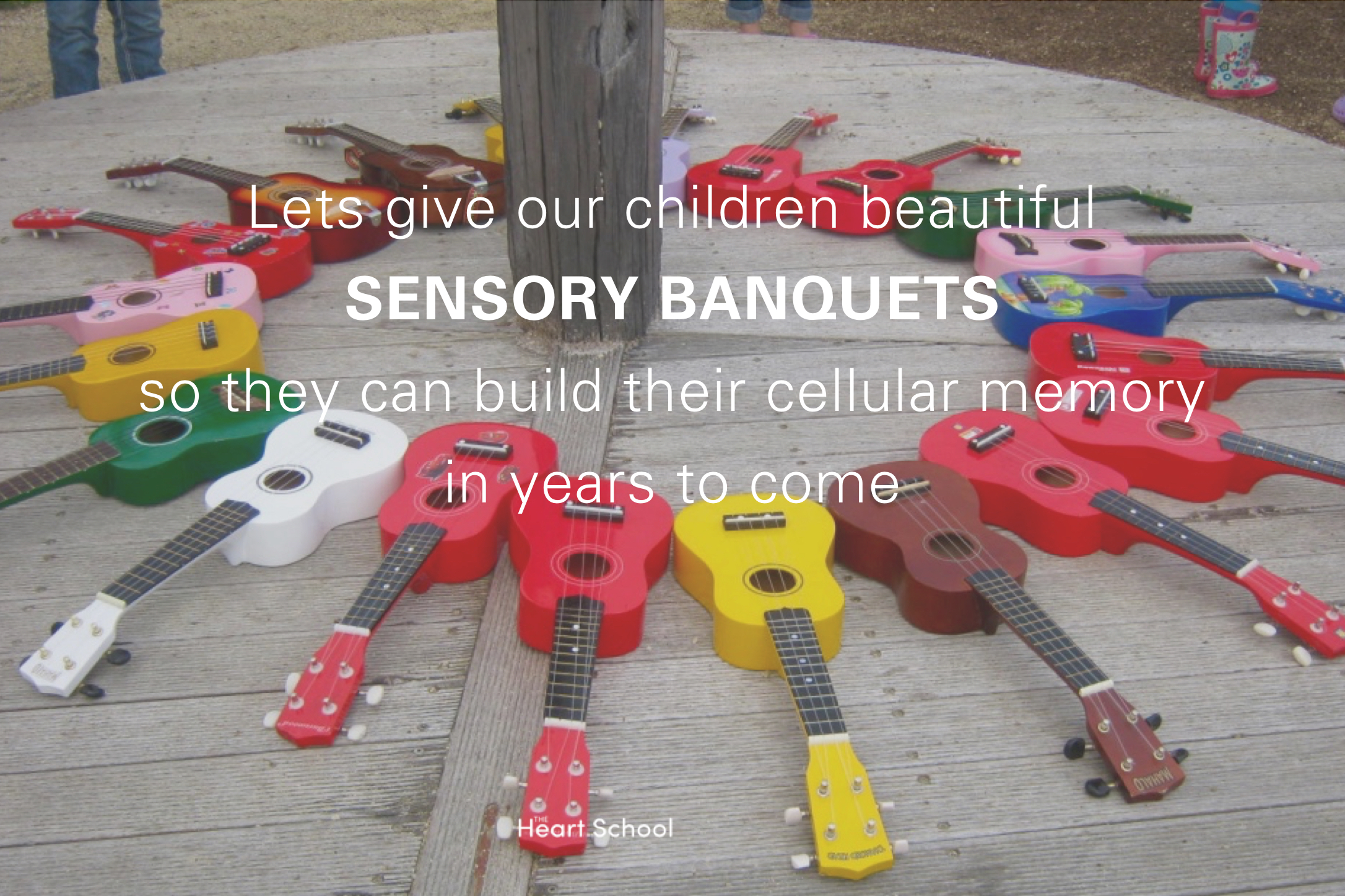 When we consider the formative years of a child's life is all about sensory download, let's be more conscious to provide environments that saturate the senses with beauty as well. Take a sensory stocktake of your place. Ask yourselves a few questions, that really get to the heart of the matter. Is it beautiful? Lets give our children beautiful sensory banquets so they too can have the same cellular memory in years to come.