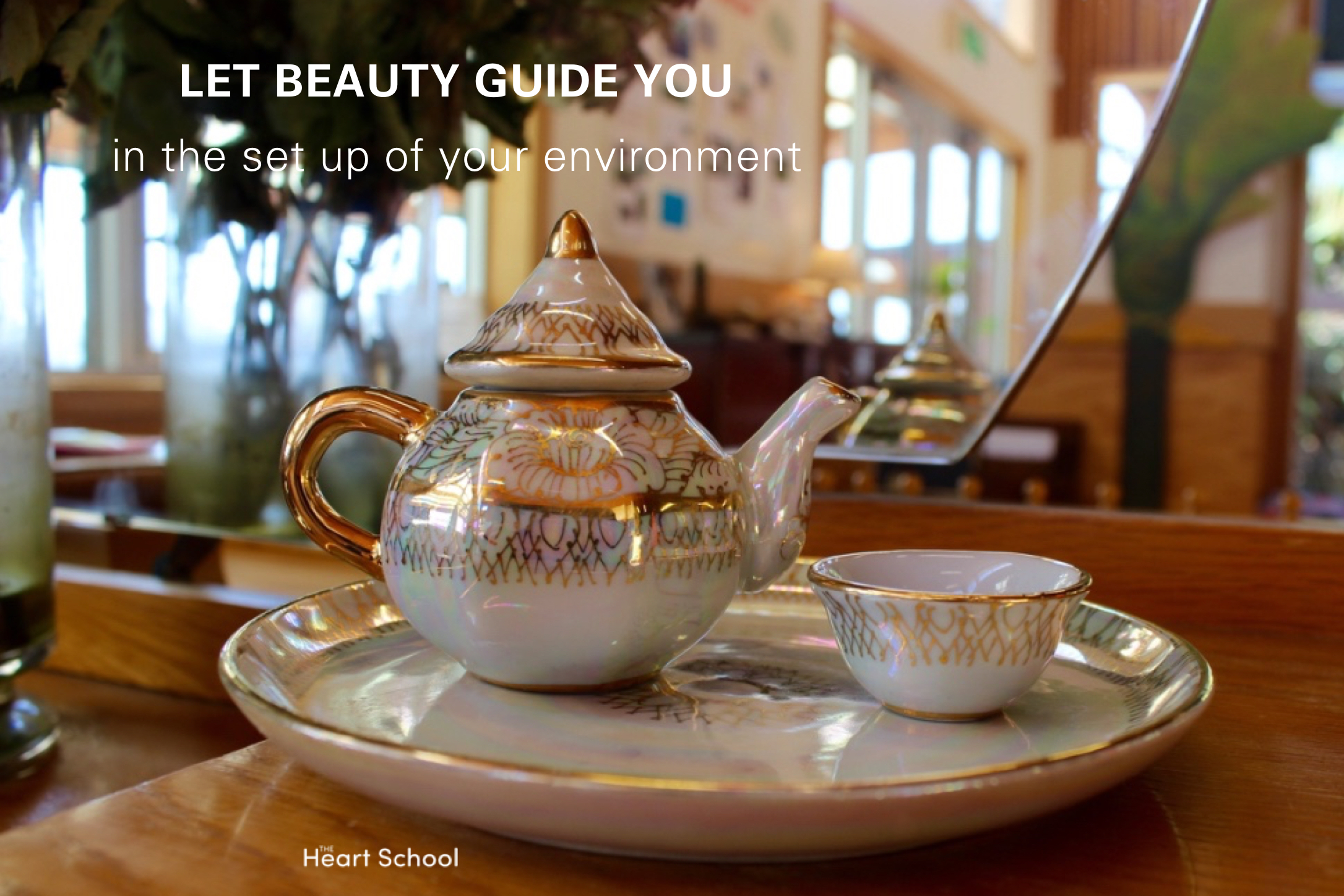 You reap what you sow! We get given the most beautiful little trinkets from people's garage sales. Inject love and beauty into your space. Let beauty guide you in how you set up your environment, not the ece catalogue.