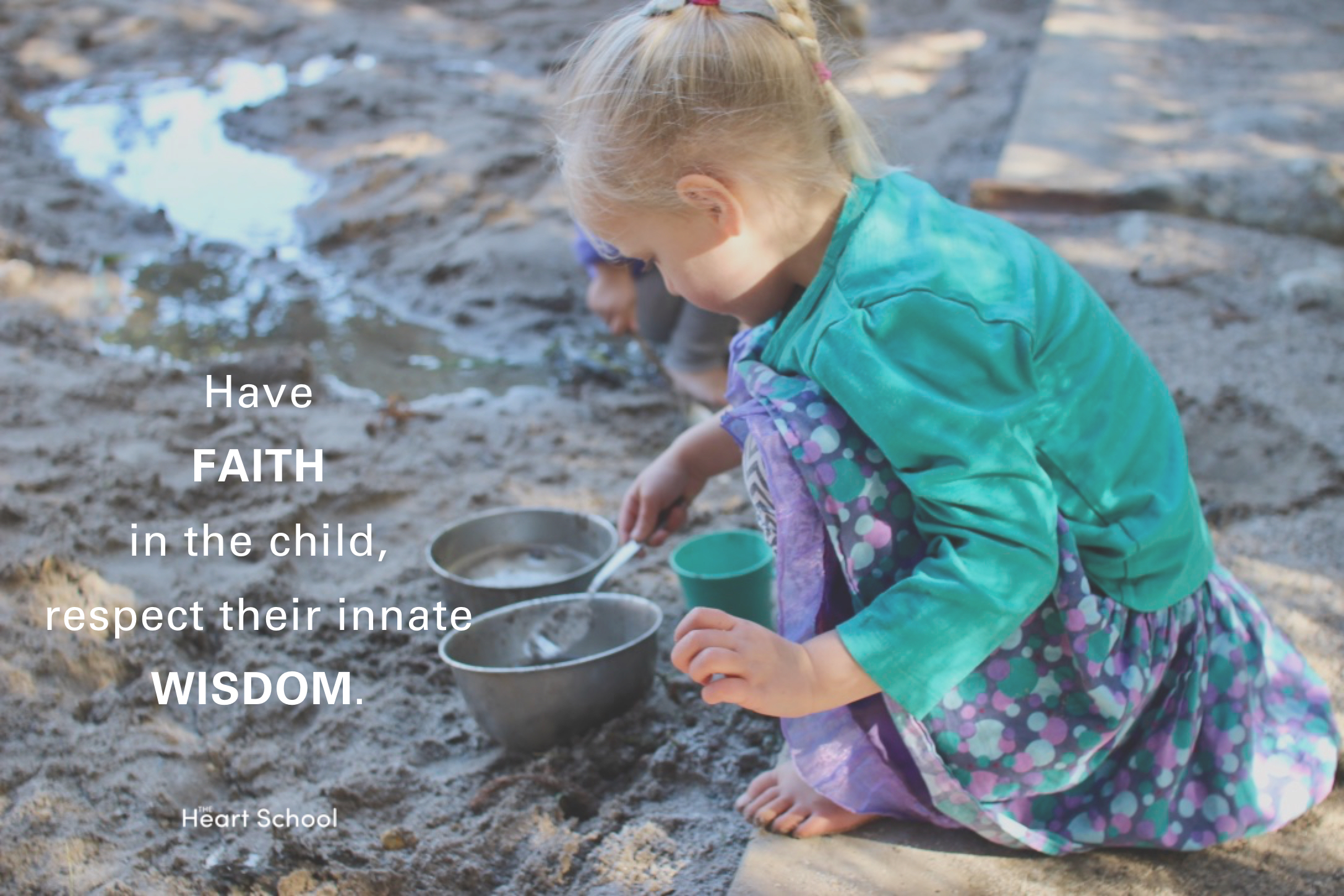 """It is time that we use the child's own biology as the compass for 'how' we provide the richest of learning. Have FAITH in the child, and respect their innate wisdom. The path they are on comes from within. We are here to support, remove obstacles, sometimes suggest, but not to lead, direct or dictate. If we tried to set the path we would miss what is essential to that child. Magda Gerber phrased it beautifully when she said, """"be careful what you teach, it might interfere with what they are learning""""."""