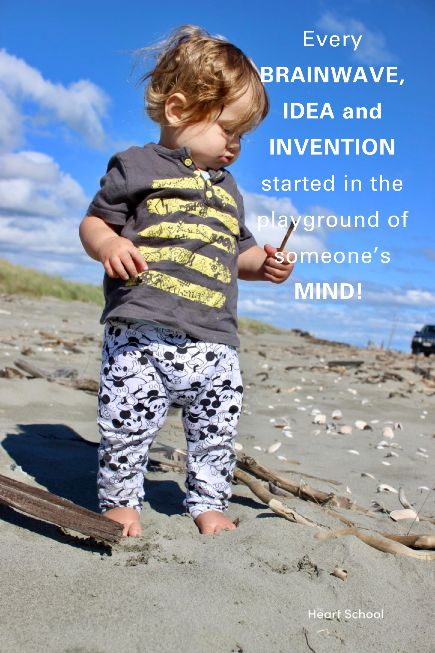 Children are natural inventors, designers and creators. Through play they take what they know of the world, imitate and experiment. They dwell in possibility, and the best materials are those that follow play's golden rule - anything can be anything. A piece of wood can be a thousand things!