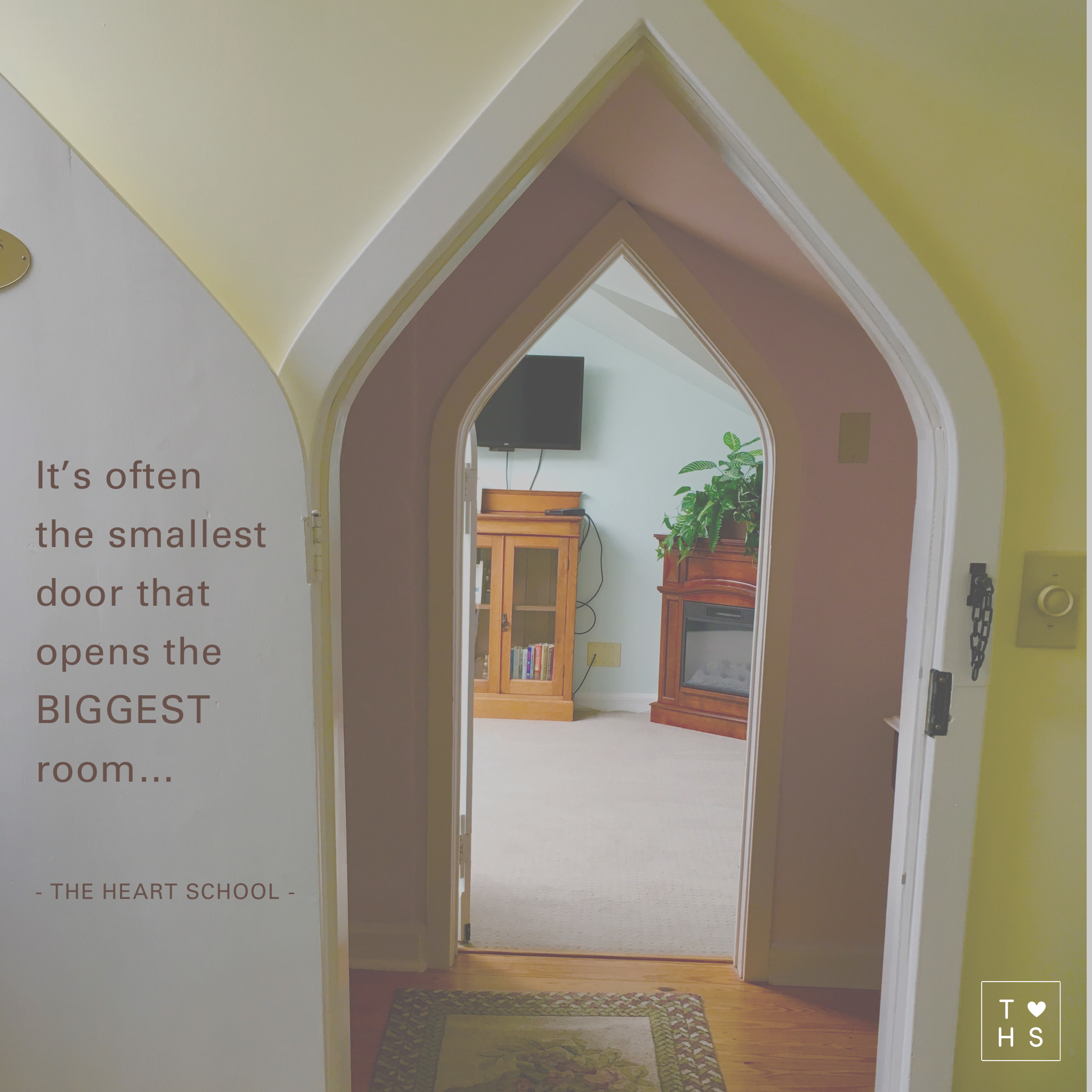 "Last year I visited a gorgeous bed and breakfast that had small ""hobbit"" doors in the attic. As I explored the space each little ""hobbit"" door opened into the most amazing grand room, grand in the sense of beauty, feel and touch... I had been deceived by the look of the small doors... Opportunities and possibilities are often in the smallest nooks and grannies, it's often the little BIG things that create the BIG little moments... Have courage, and open those little doors..."