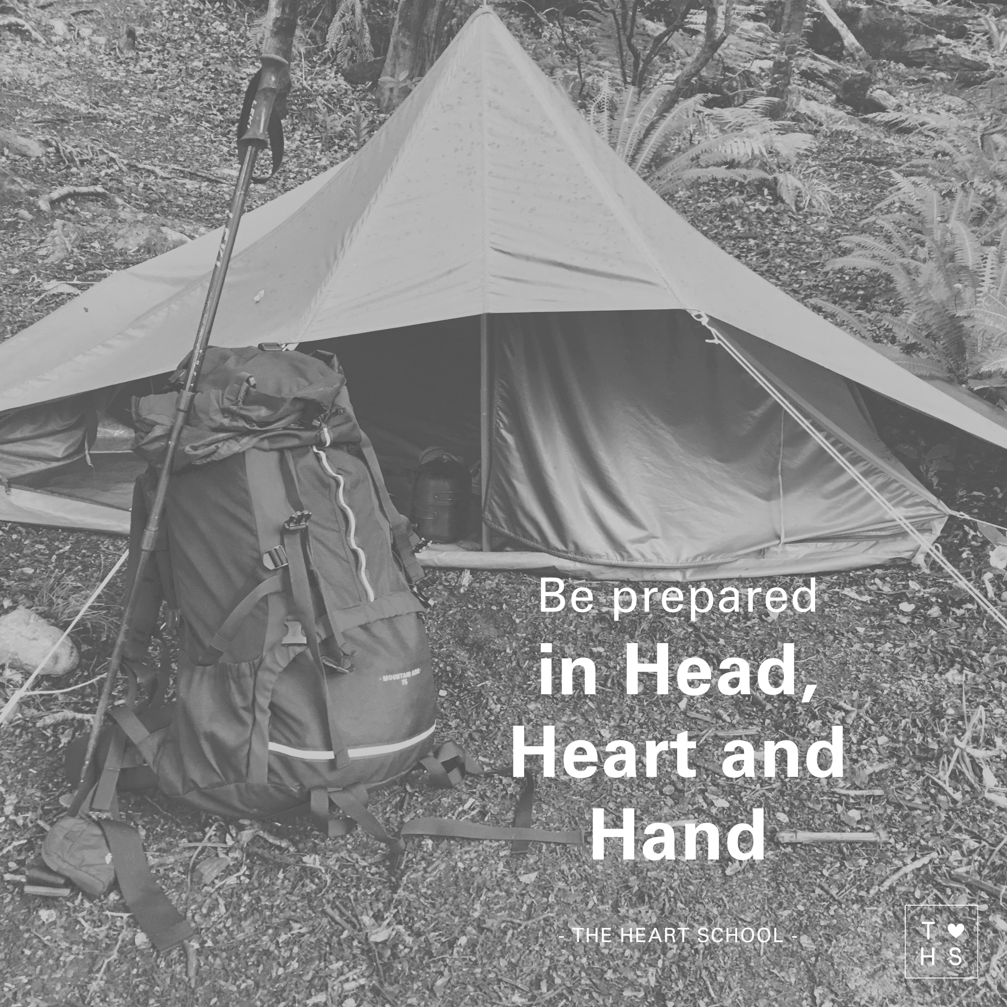 "Last weekend I went camping in the bush. I have to admit I was a bit nervous in the lead up. The weather had taken a turn, daylight was much shorter, and I had not previously met the other campers. I was going bush with a group of strangers. Then I remembered our mantra at work... preparation in the head, the heart and the hand. Why not apply this in my personal life?  I started with the head. It was going to be 7 degrees overnight and some rain was expected. That's crucial information when you are heading into the bush.  Next I moved to the hand. Cold and rain meant digging up my merinos, packing my rain gear and bringing my down sleeping bag. Those are important items to prepare and pack.  Now I was ready to move to the preparation of the heart. There was an immense cacophony in my head going on; will I be able to do all the tasks, will I meet the expectations, will I like the people I am spending the next two days with, how do I prevent getting lost? Mark Nepo says it beautifully... ""It is the speaking of one's heart that makes a human being human"". I acknowledged the self talk, without judgment, and took a moment of silence. Soon my heart was feeling lighter and more open.  I was ready for a new adventure. Preparation had made all the difference! What can you prepare for in the head, heart and hand today?"