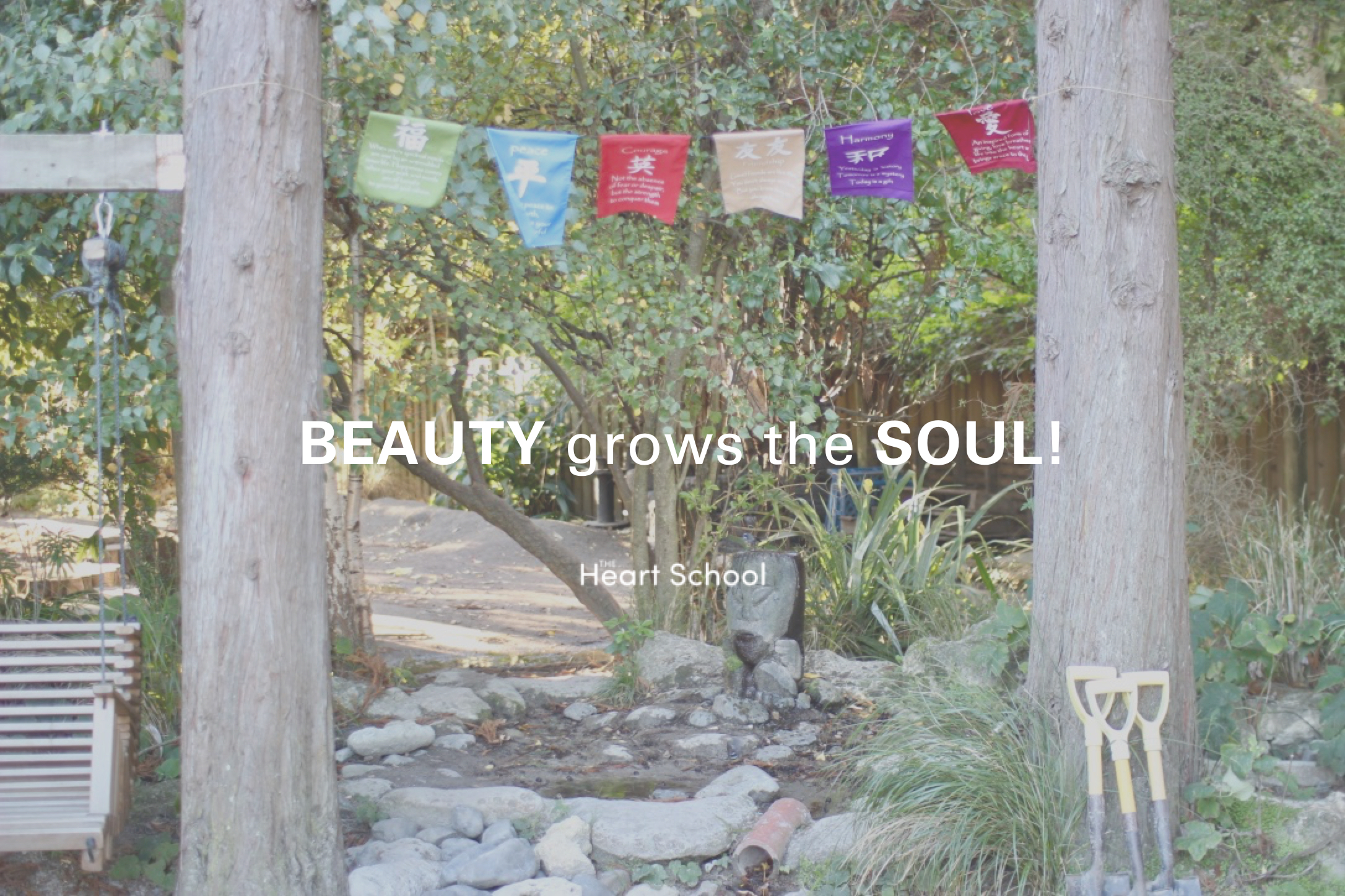 """""""The only lasting beauty is the beauty of the heart"""" - Rumi  It is not our words that are important for children - they learn from their environment, from who we are and what they see us do. A beautiful environment naturally encourages care and respect, even without a word said."""