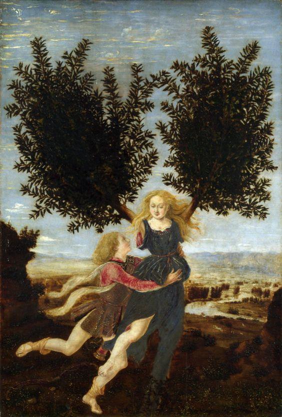 Apollo and Daphne by Antonio Del Pollaiuolo