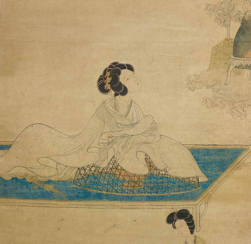 A Lady perfuming her Sleeves by  Chen Hongshu