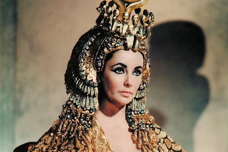 Elizabeth Taylor as Cleopatra who often worn jewellery that featured peridot