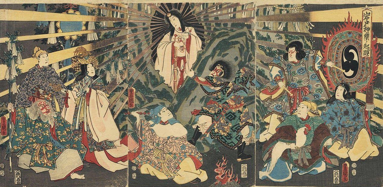 Amaterasu Cave by Utagawa Kuniyoshi