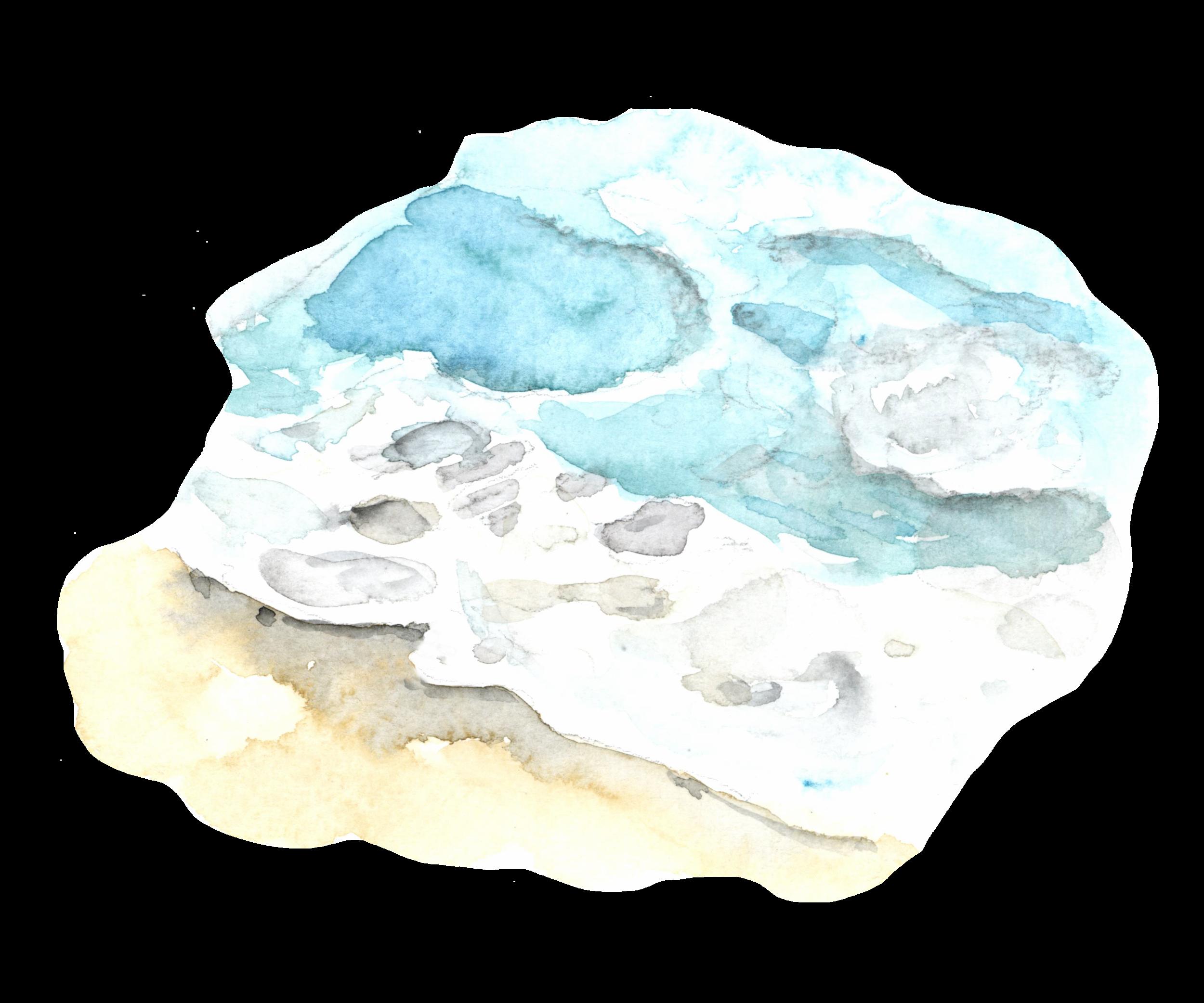 Folly Beach watercolor