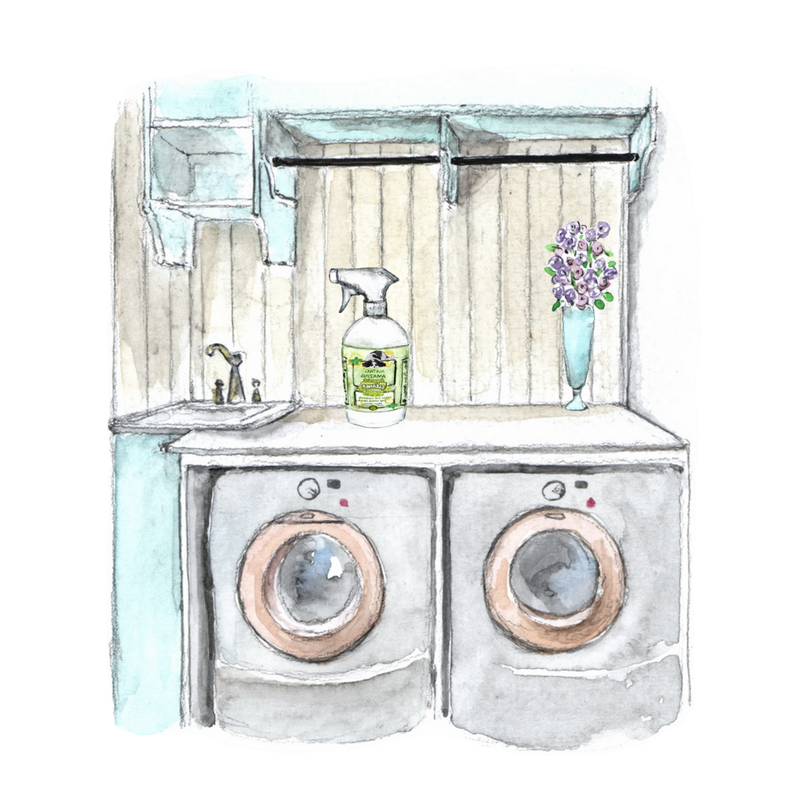 Laundry Room watercolor from Agatha's Apothecary