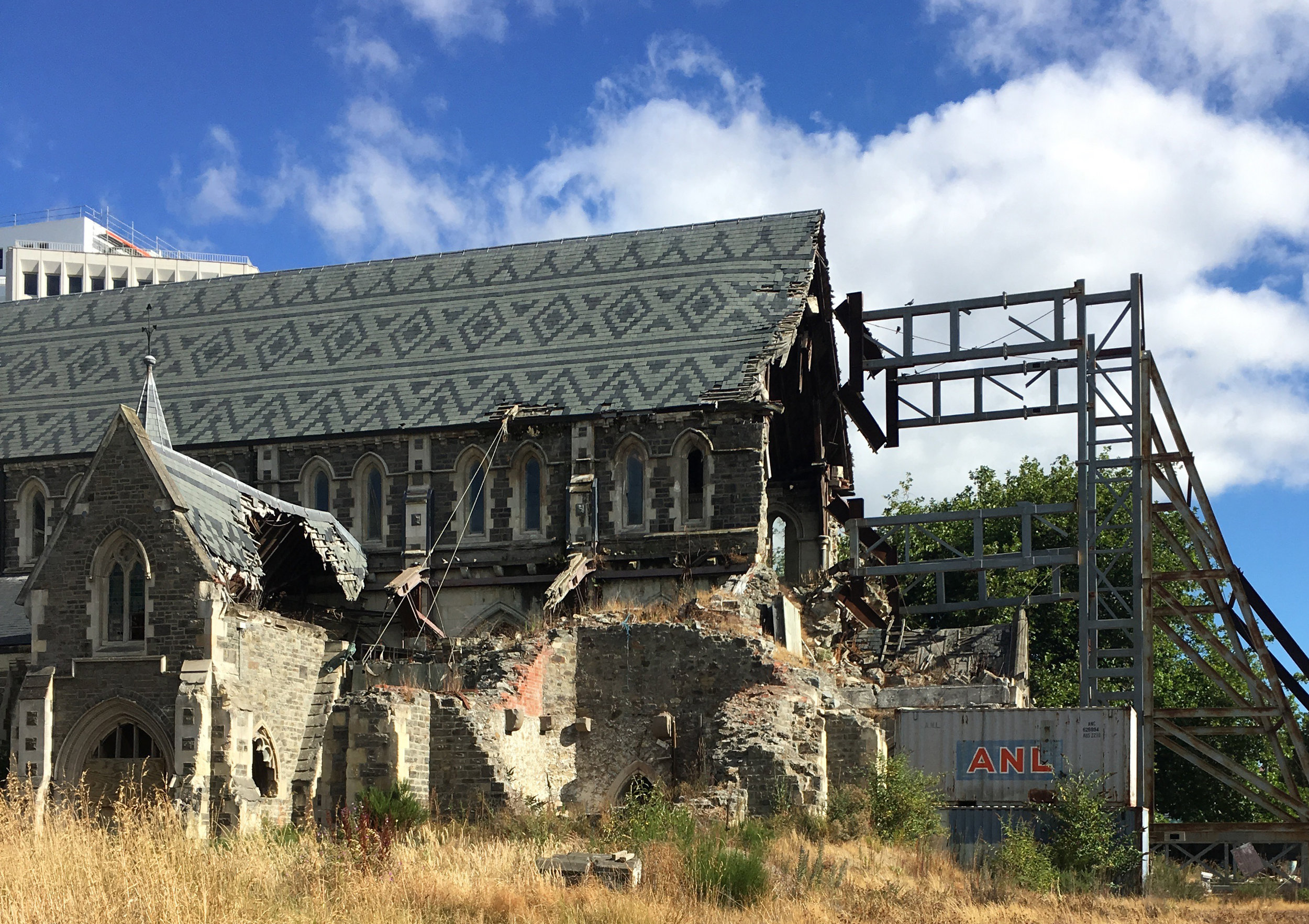Rebuilding the ChristChurch Cathedral started this year and is expected to take 10 years.