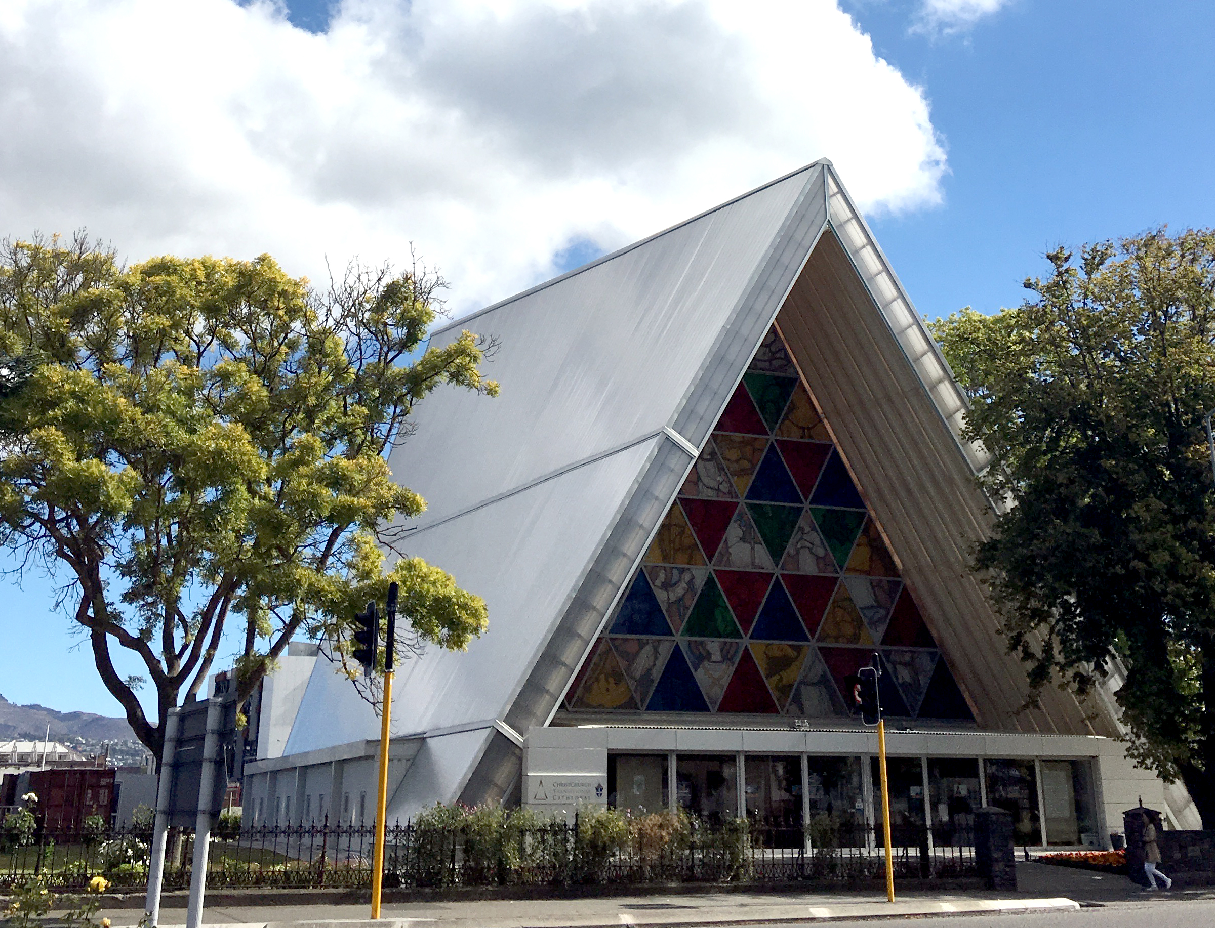 The Cardboard Cathedral (a church literally made of cardboard) opened in 2013 designed by architect, Shigeru Ban.